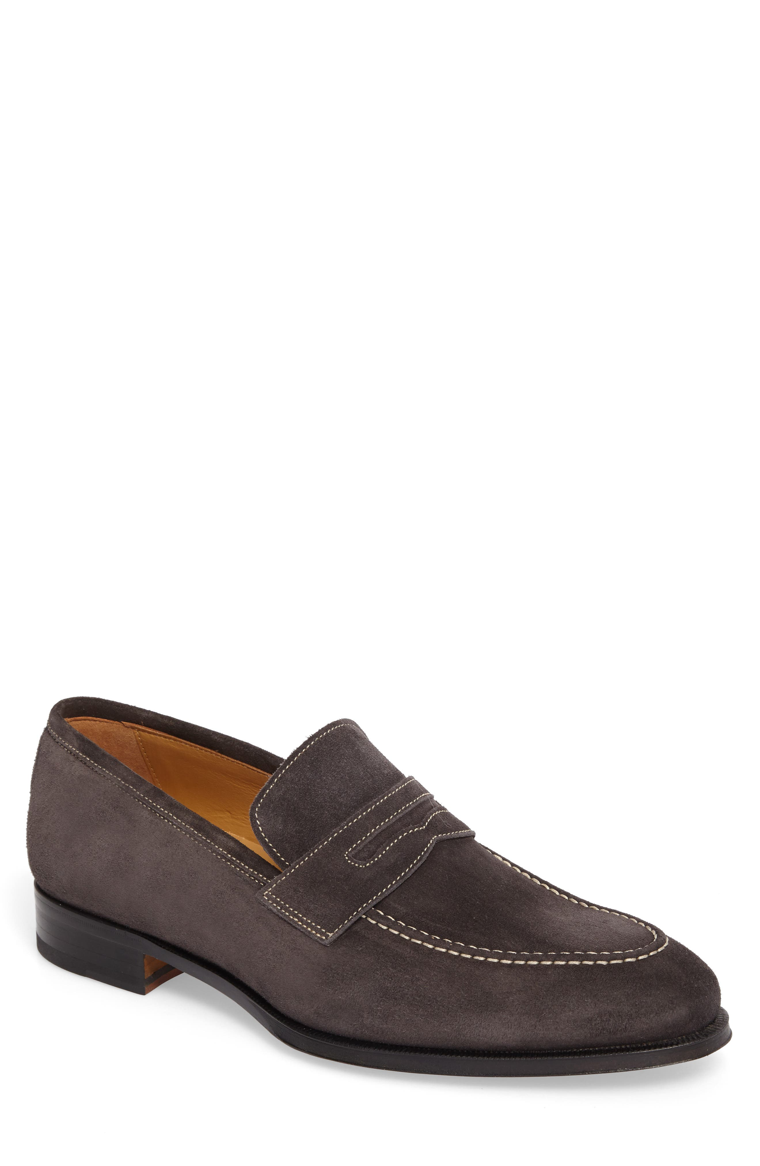 Leather Penny Loafer,                             Main thumbnail 1, color,