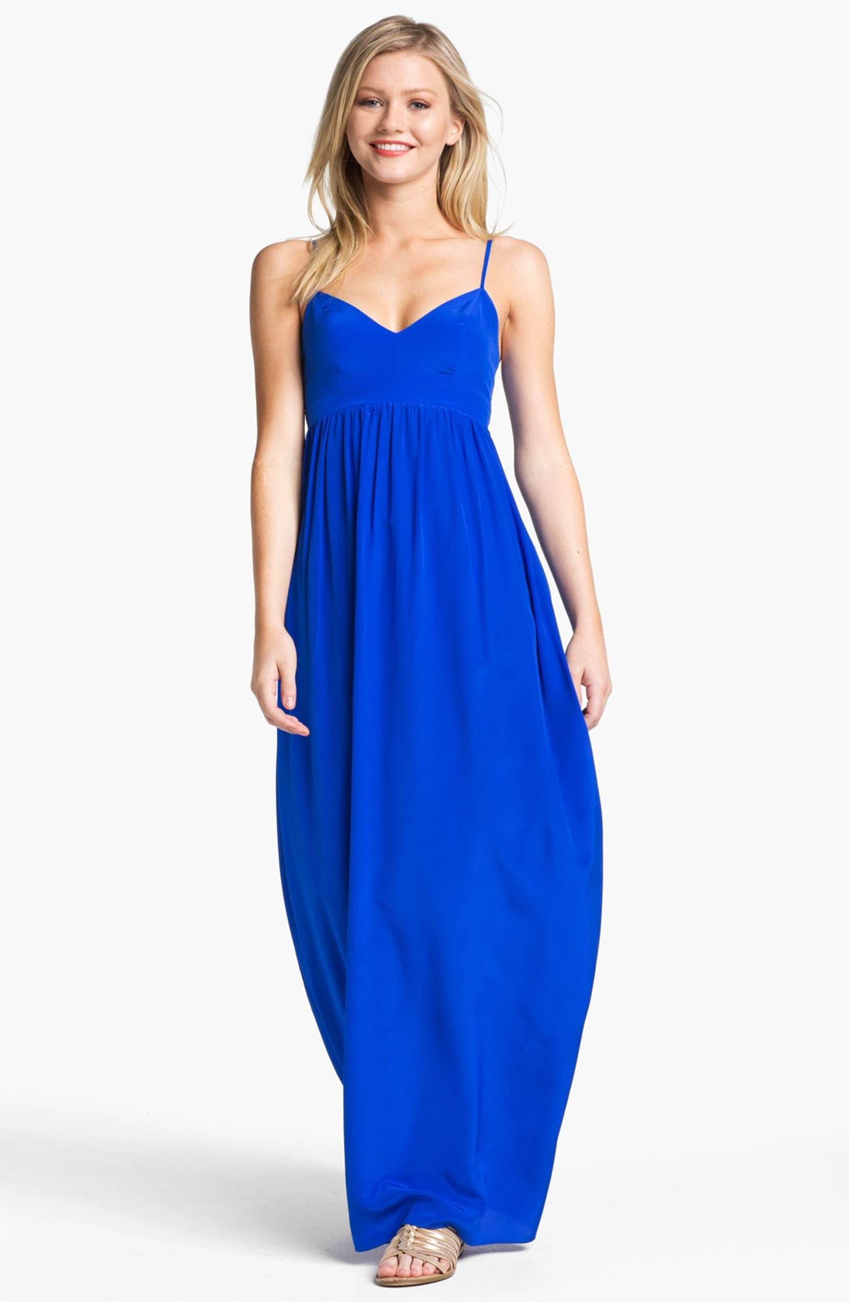 Amanda Uprichard Silk Maxi Dress | Nordstrom