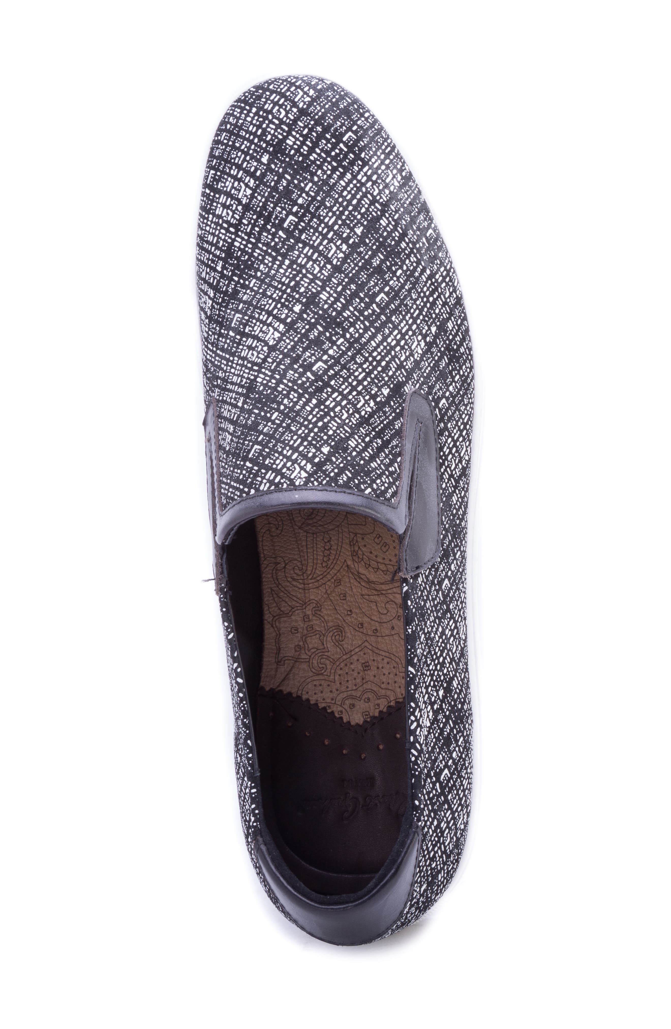 Kitson Slip-On Sneaker,                             Alternate thumbnail 5, color,                             BLACK SUEDE
