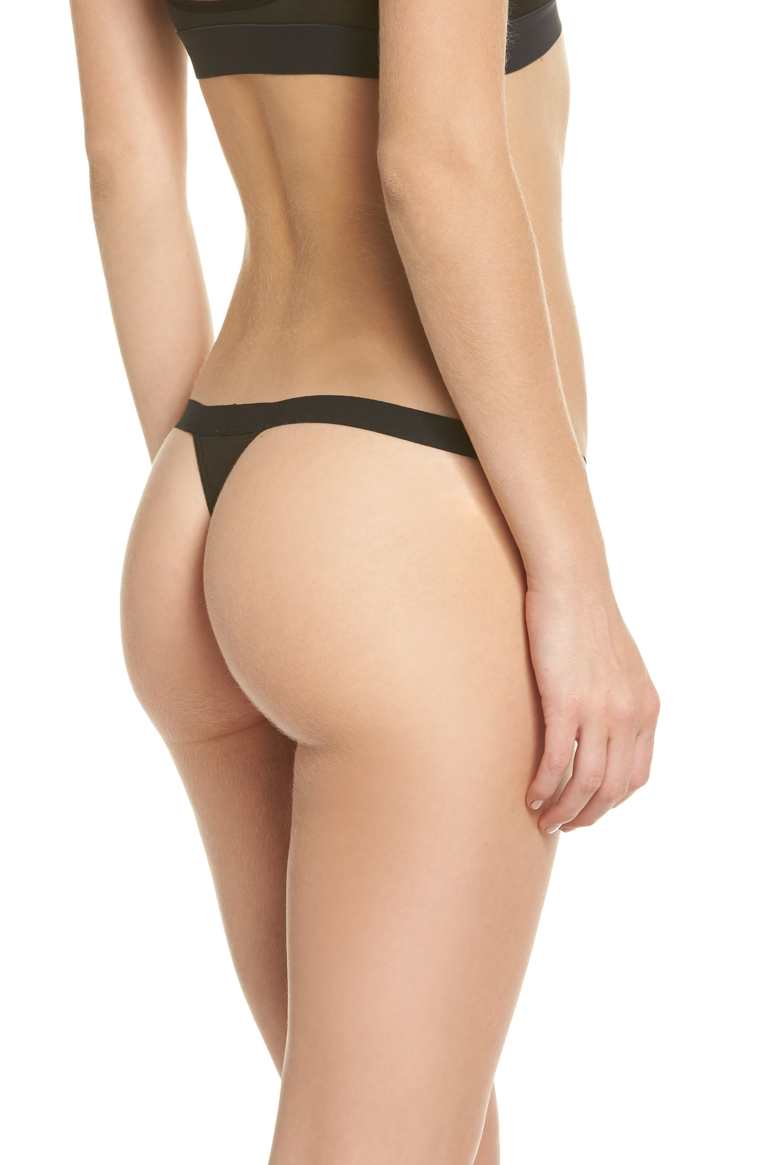 Micromodal Thong,                             Alternate thumbnail 2, color,                             001