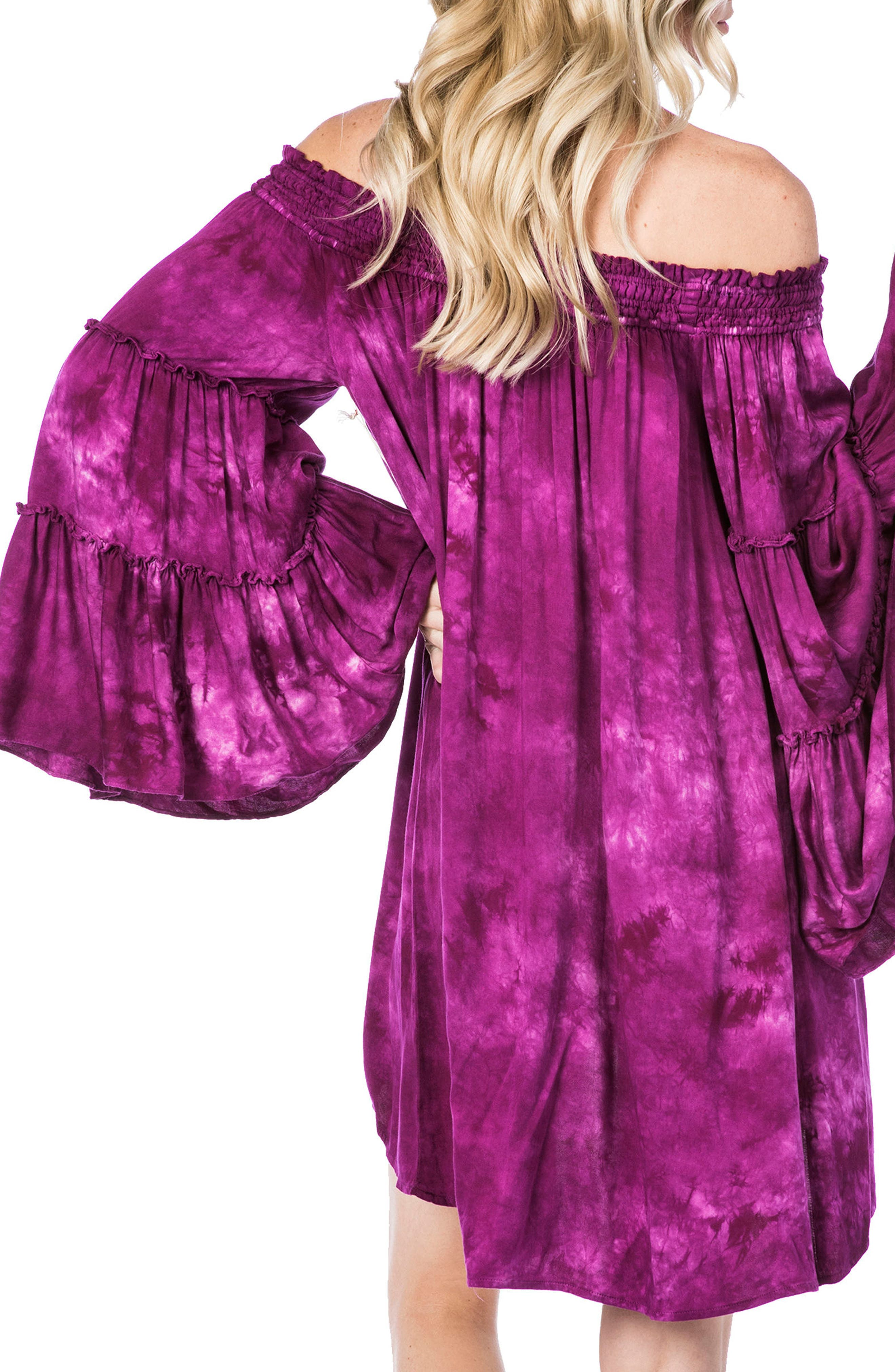 Paradise Cover-Up Dress,                             Alternate thumbnail 2, color,                             ORCHID