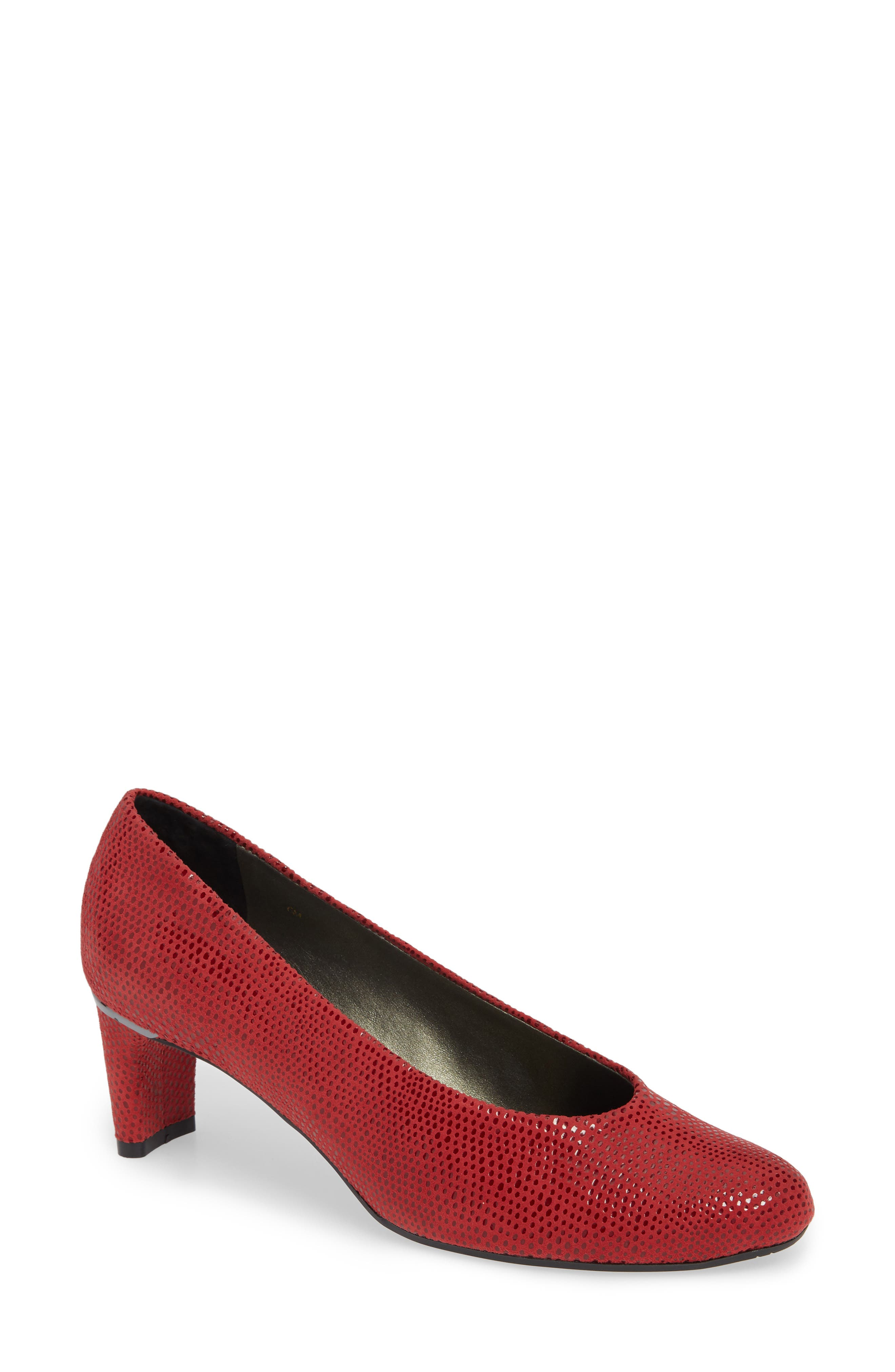 'Dayle' Pump,                         Main,                         color, RED LEATHER