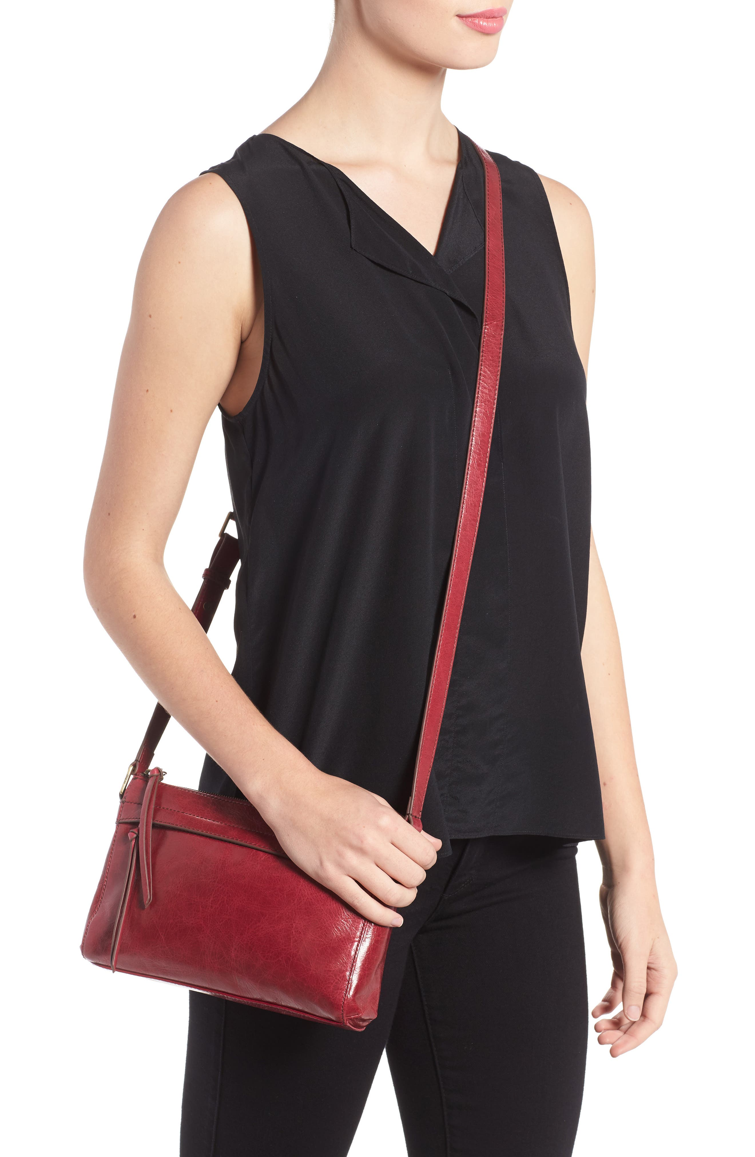 Tobey Leather Crossbody Bag,                             Alternate thumbnail 24, color,