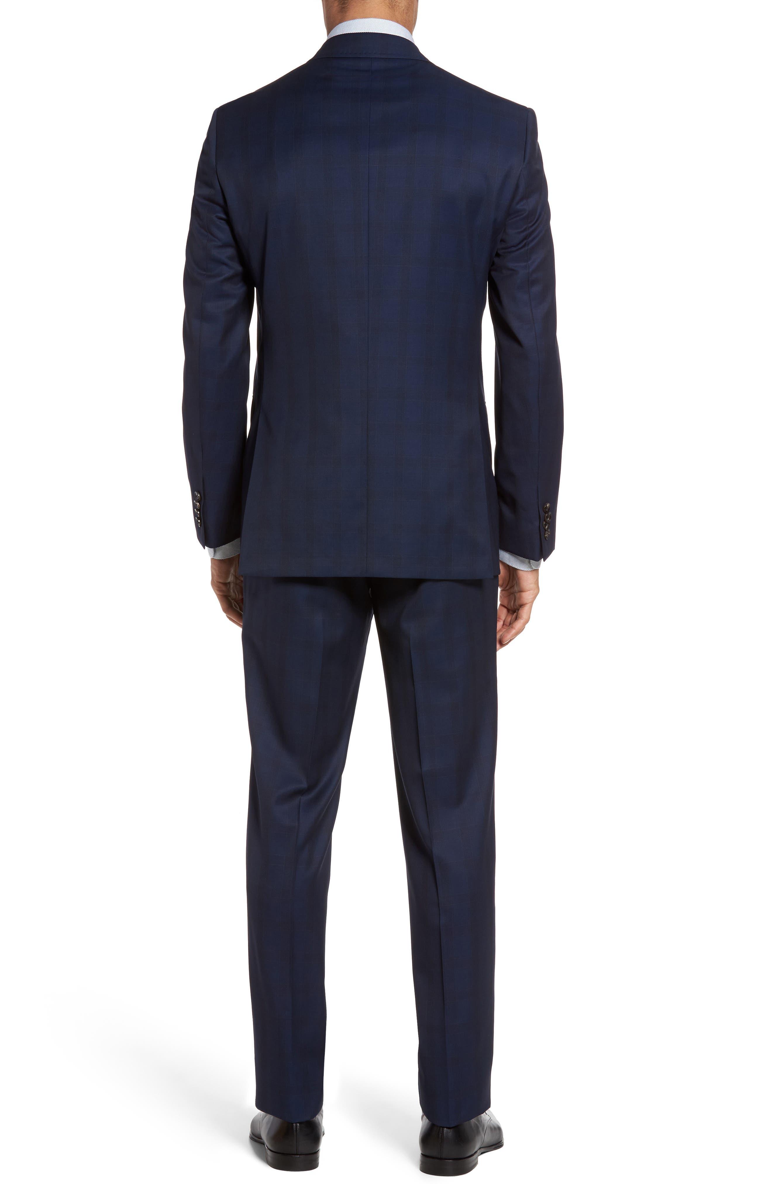 Jay Trim Fit Plaid Wool Suit,                             Alternate thumbnail 2, color,