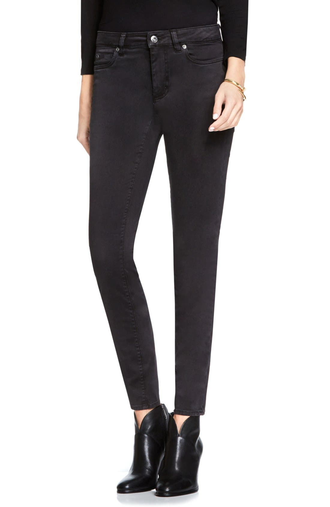Colored Five Pocket Skinny Jeans,                             Main thumbnail 1, color,                             007