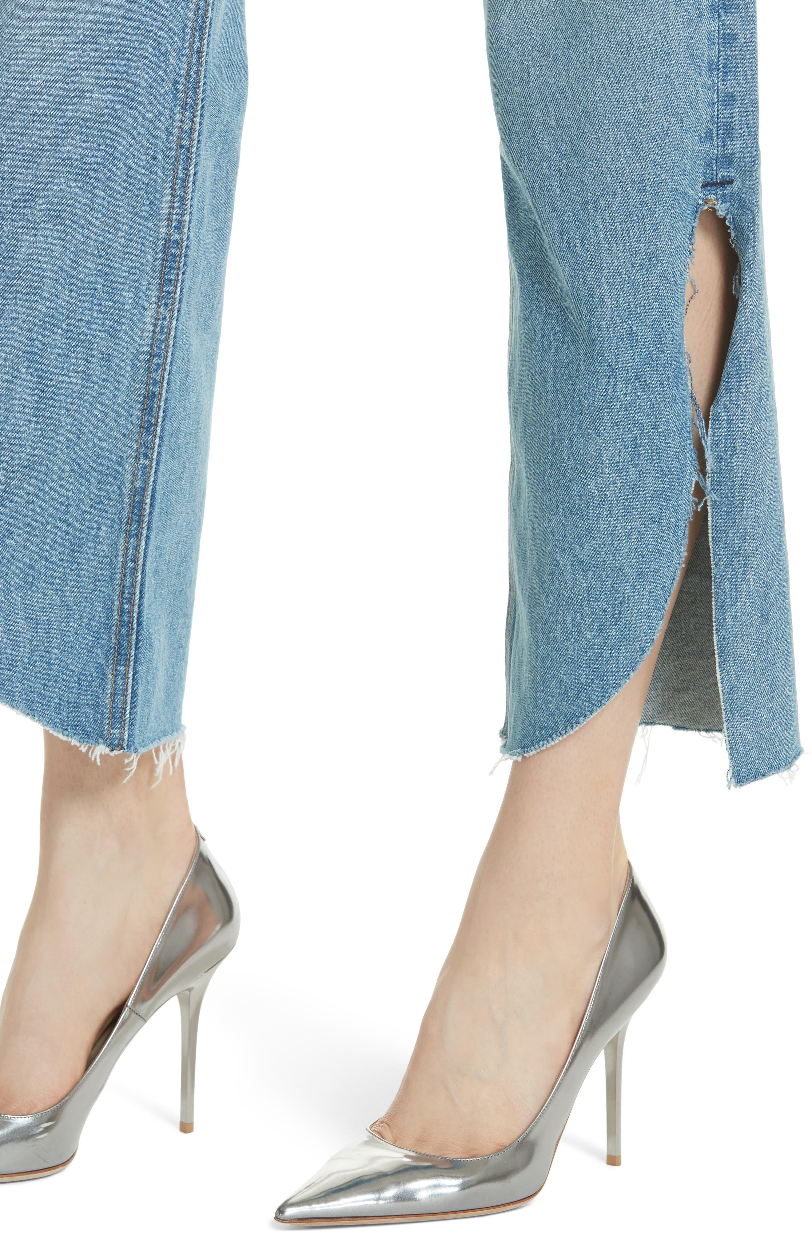 Maran Wide Leg Crop Jeans,                             Alternate thumbnail 4, color,                             483