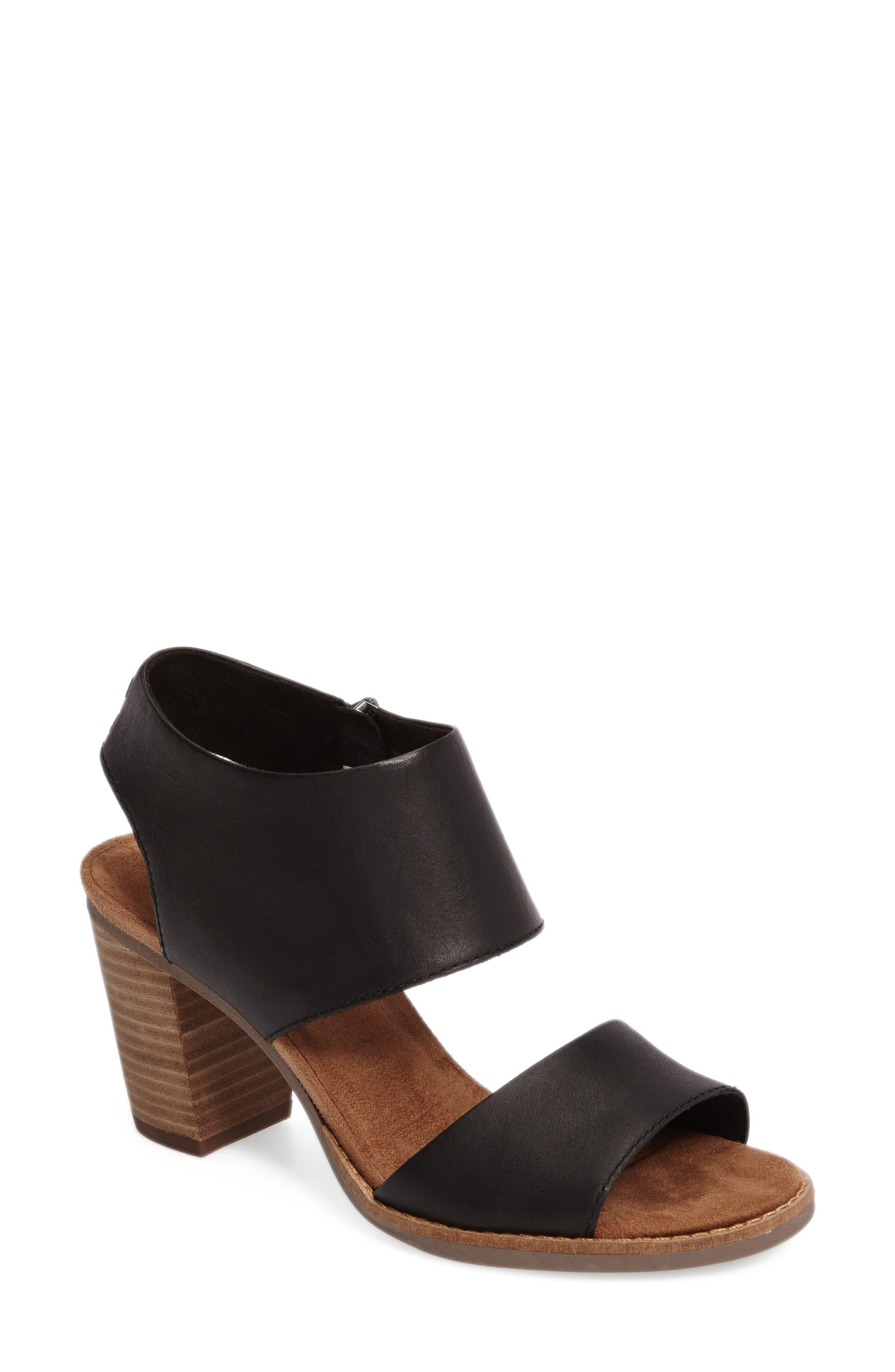 Majorca Sandal,                         Main,                         color, BLACK