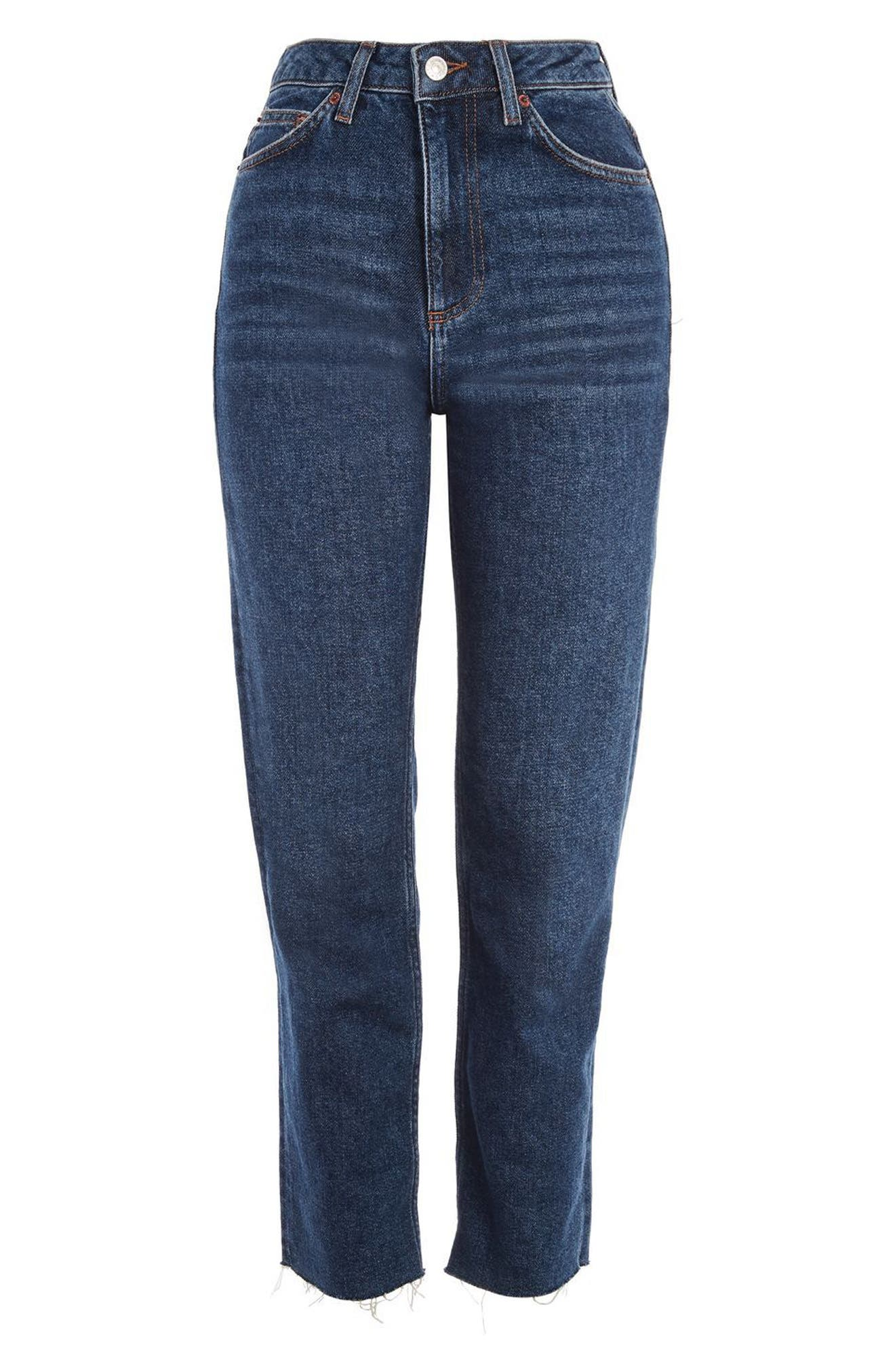 Crop Straight Leg Jeans,                             Alternate thumbnail 4, color,