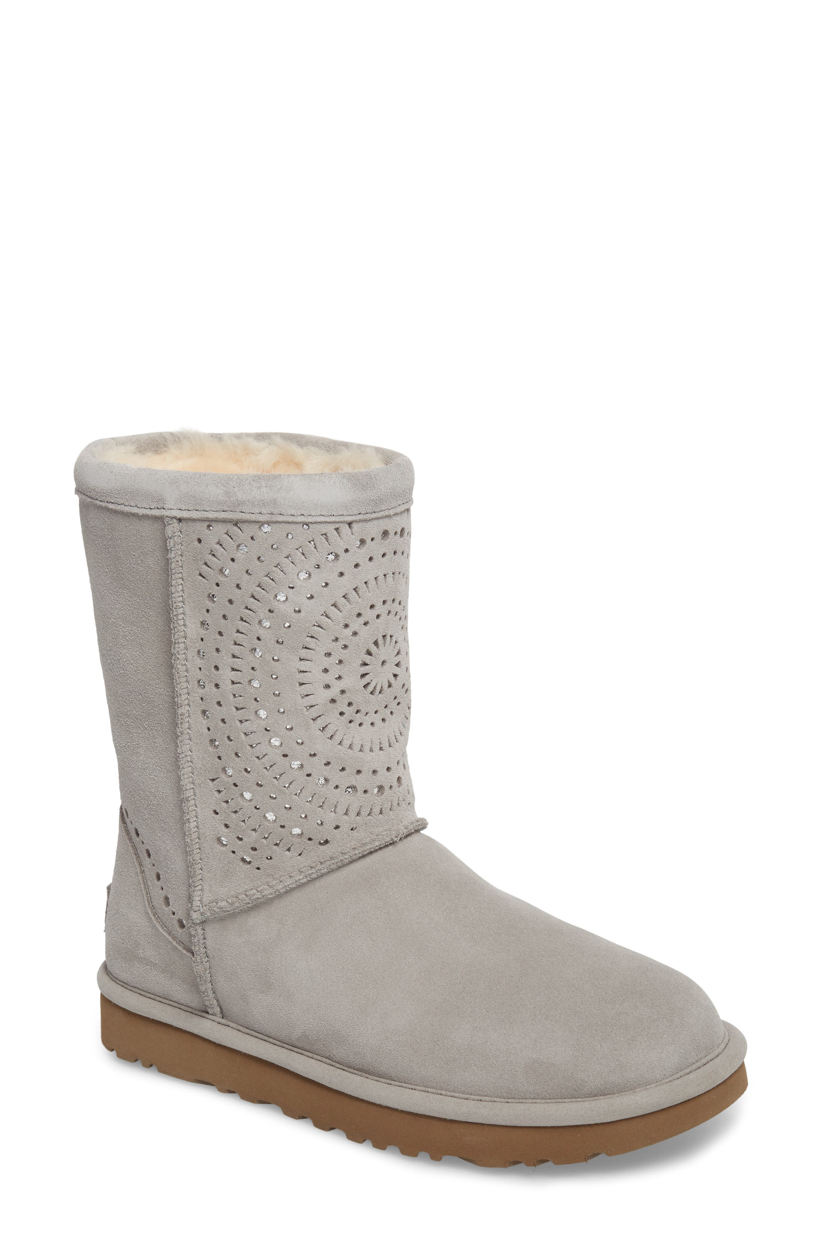 Classic Short Sunshine Perforated Boot,                             Main thumbnail 1, color,