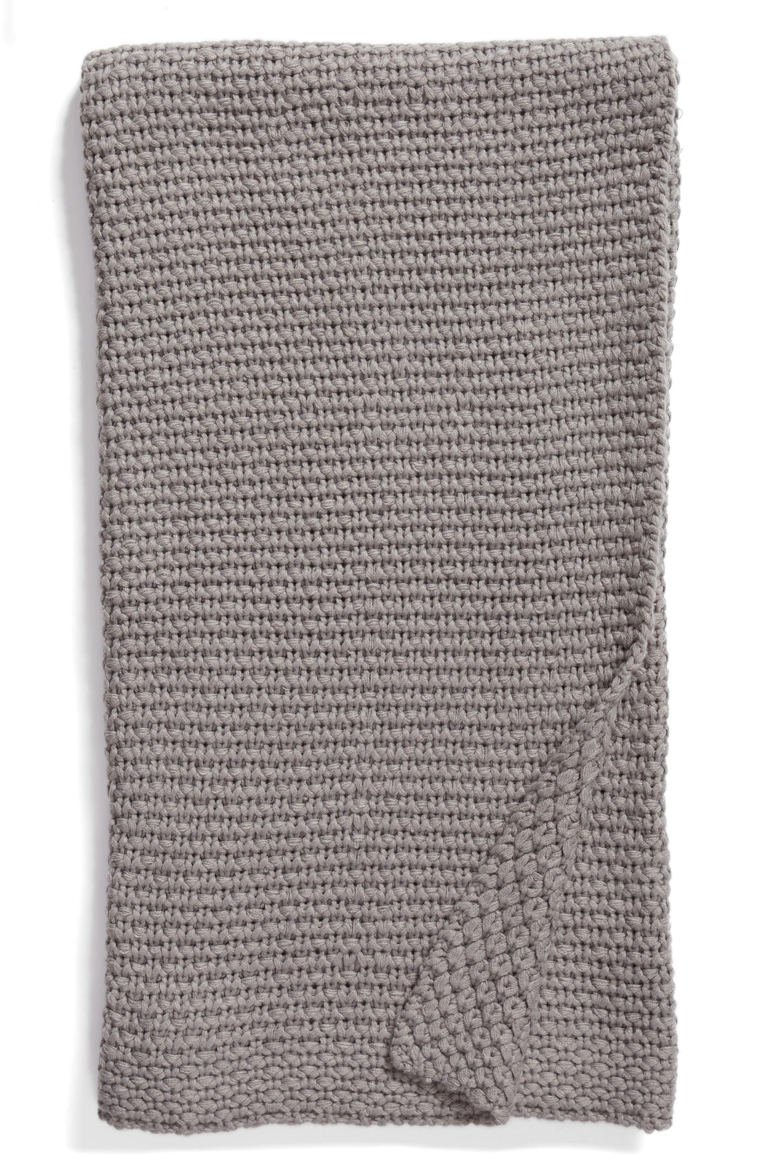 Macramé Throw,                         Main,                         color, 020