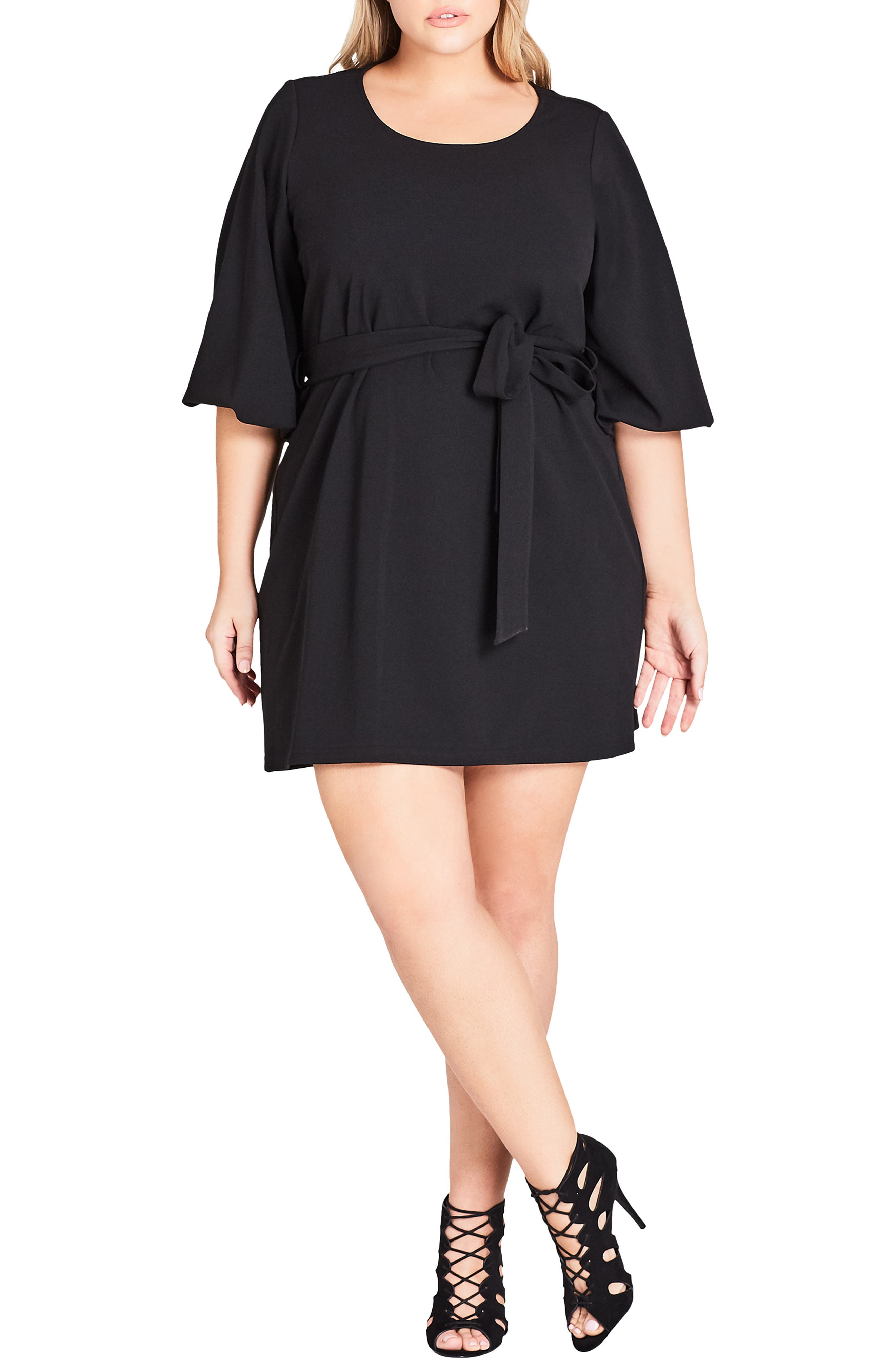 Plus Size City Chic Bubble Sleeve Dress