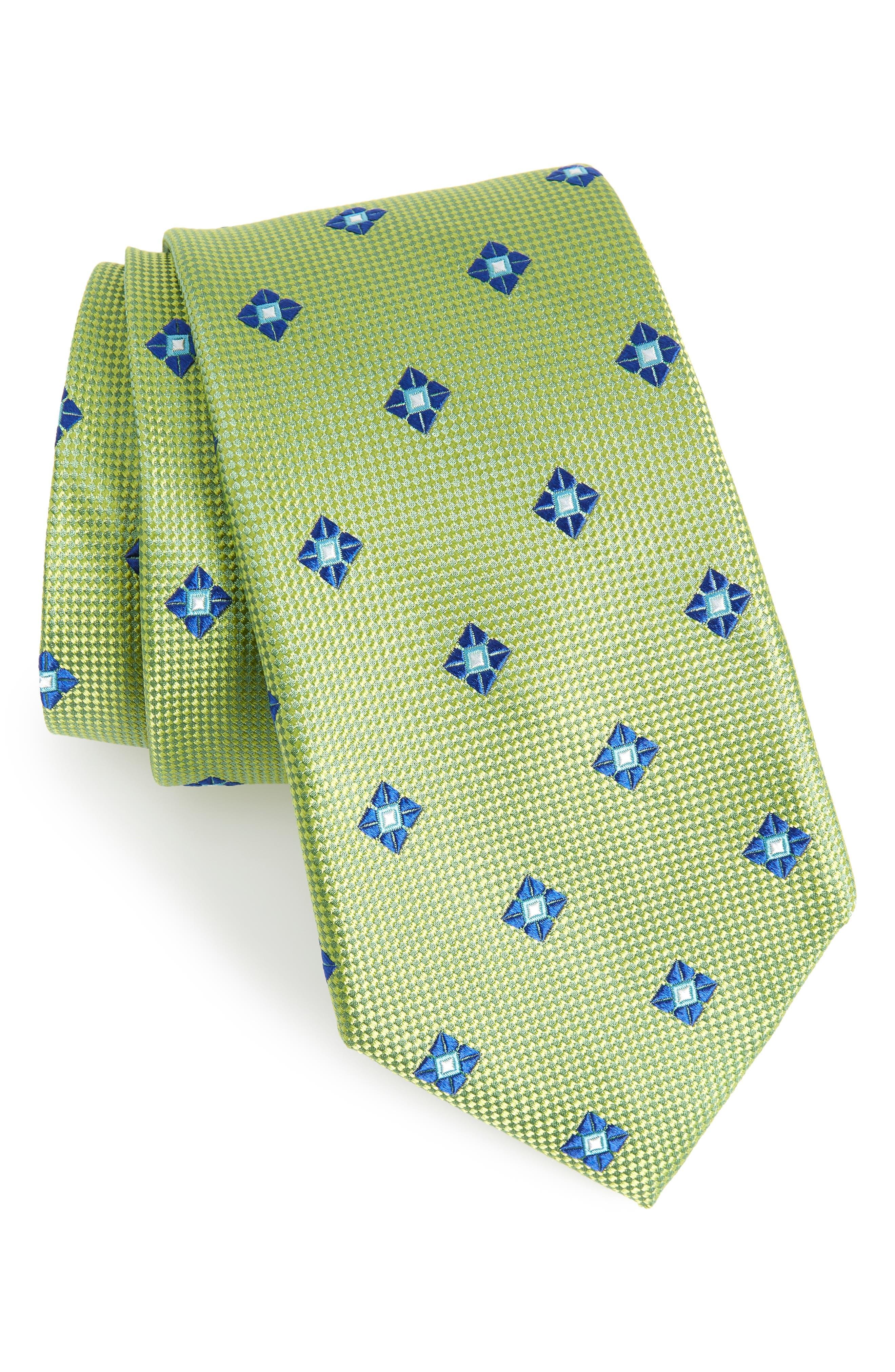 Oxford Medallion Silk Tie,                             Main thumbnail 1, color,