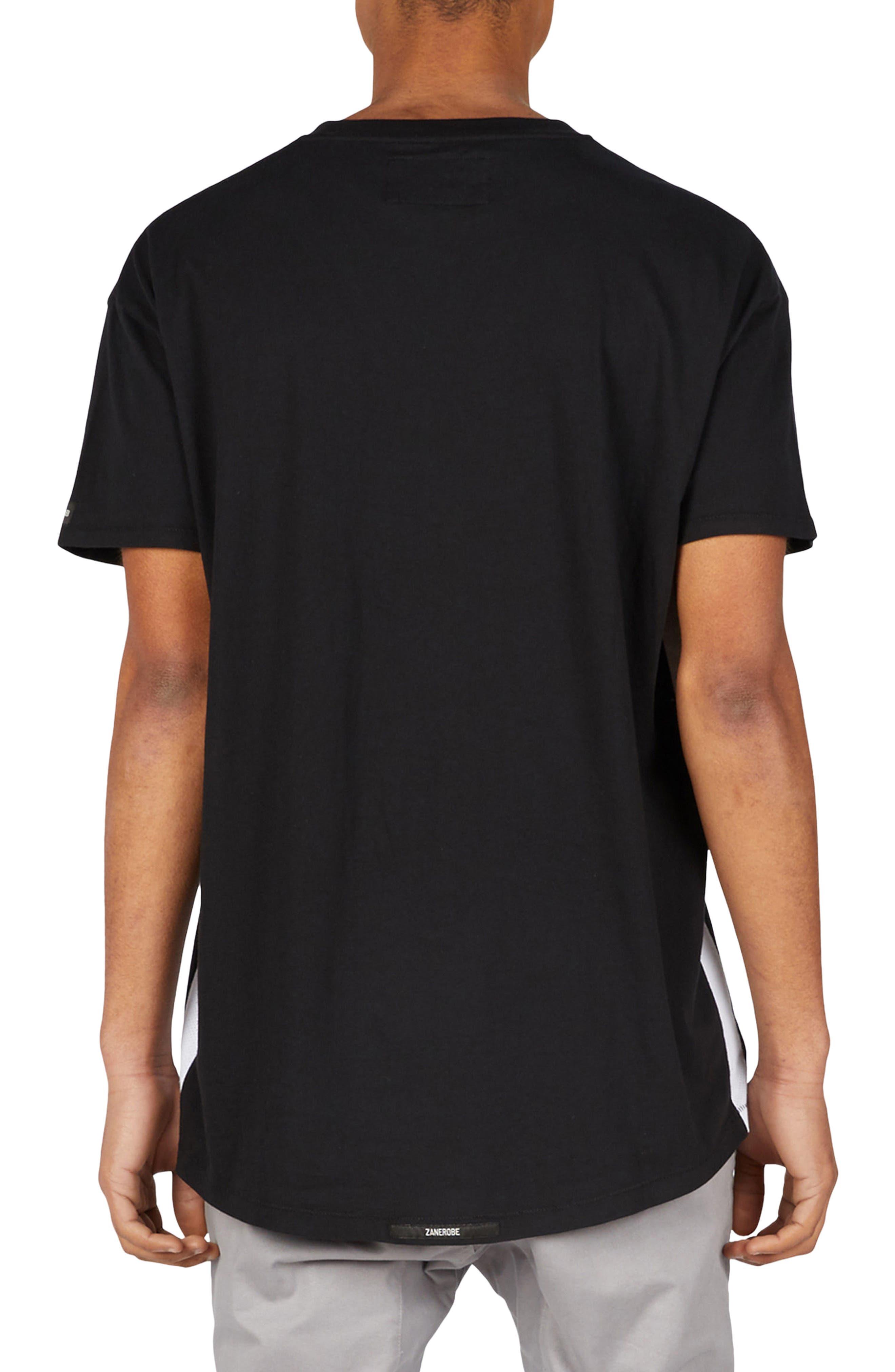 Sideline Rugger T-Shirt,                             Alternate thumbnail 2, color,                             BLACK