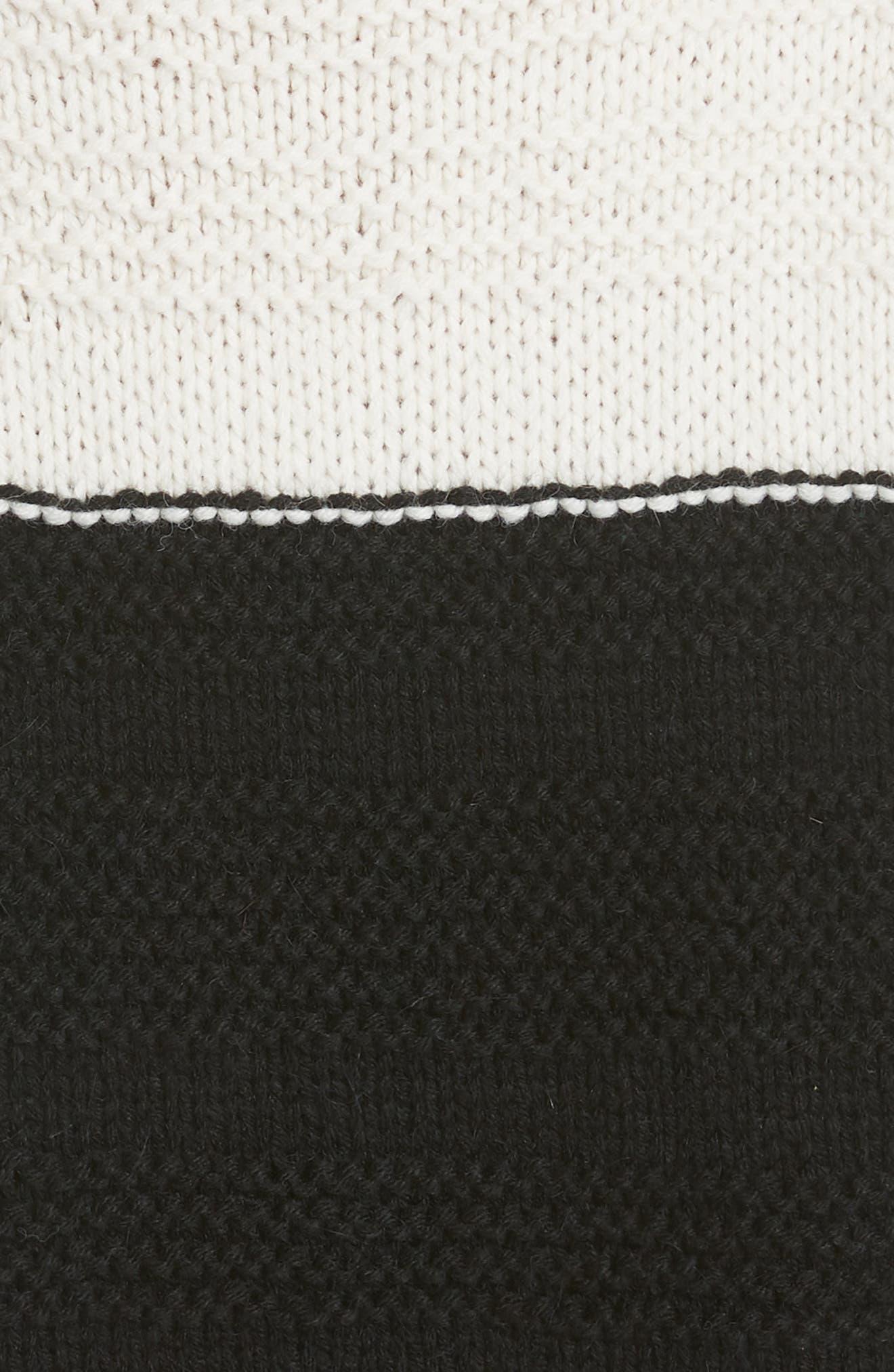 SMYTHE,                             Stripe Cross Stitched Alpaca Blend Sweater,                             Alternate thumbnail 5, color,                             001