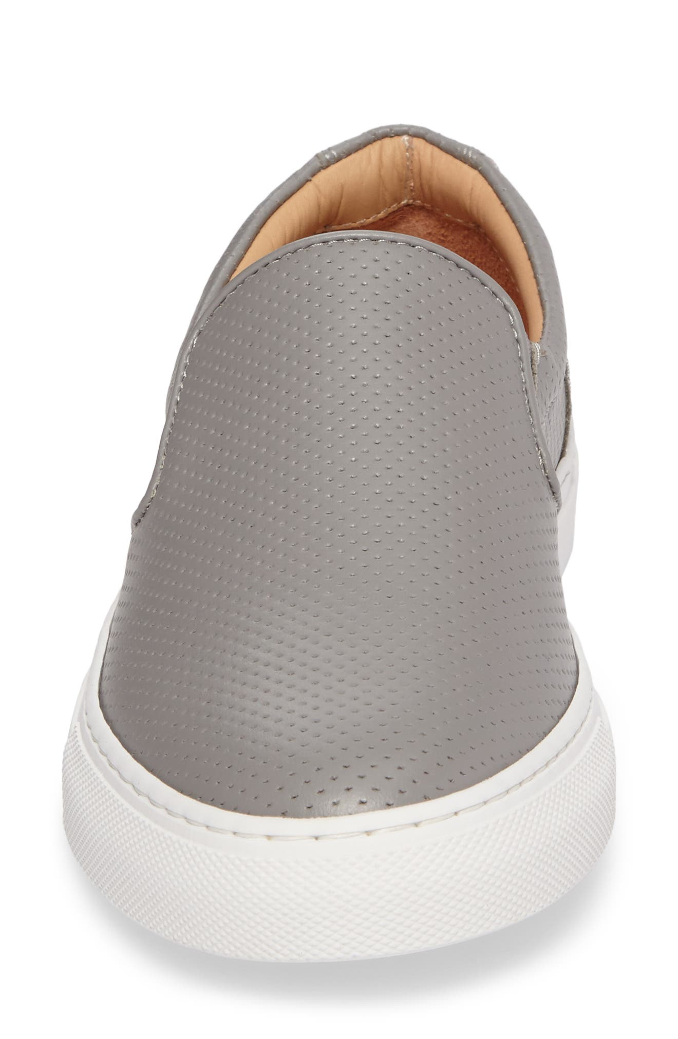 Wooster Slip-On Sneaker,                             Alternate thumbnail 4, color,                             GREY PERFORATED