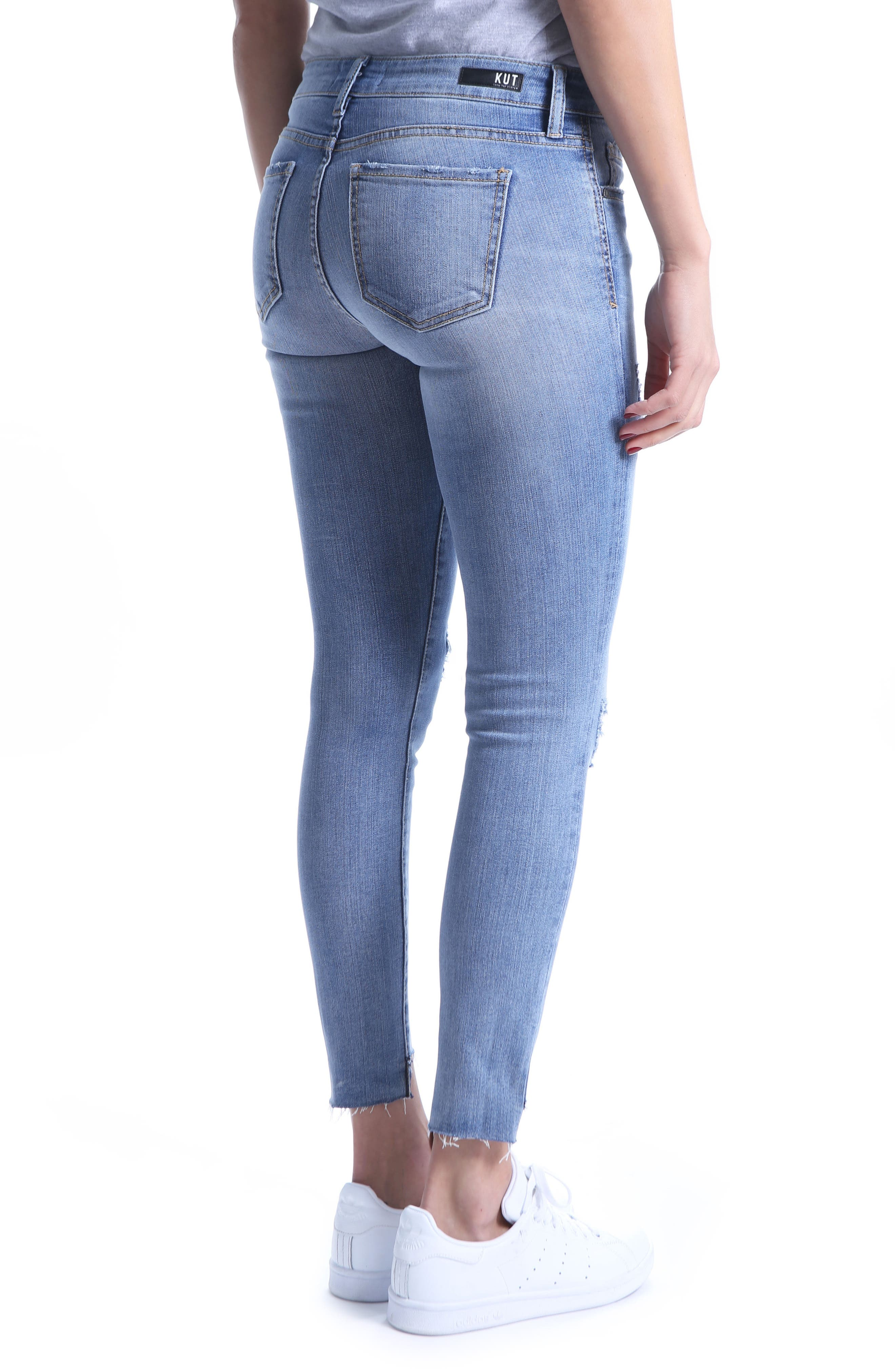 Connie Skinny Ankle Jeans,                             Alternate thumbnail 2, color,                             400