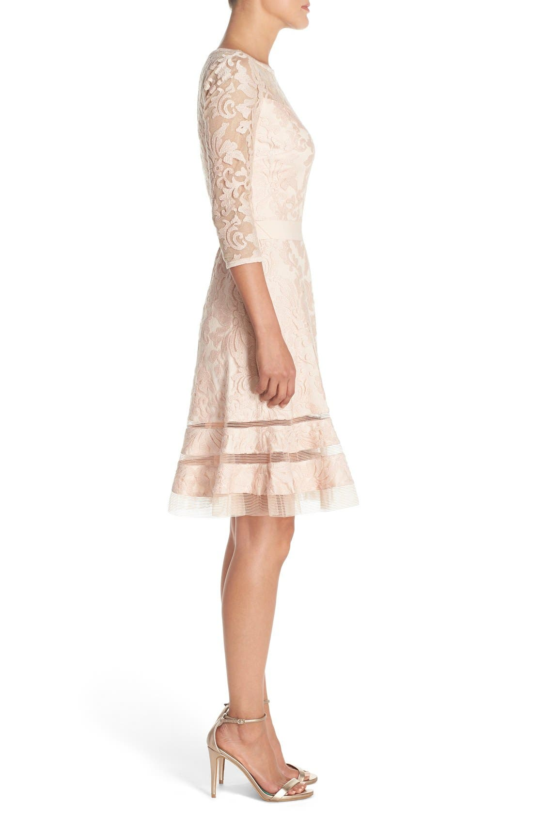Lace Overlay Dress,                             Alternate thumbnail 16, color,