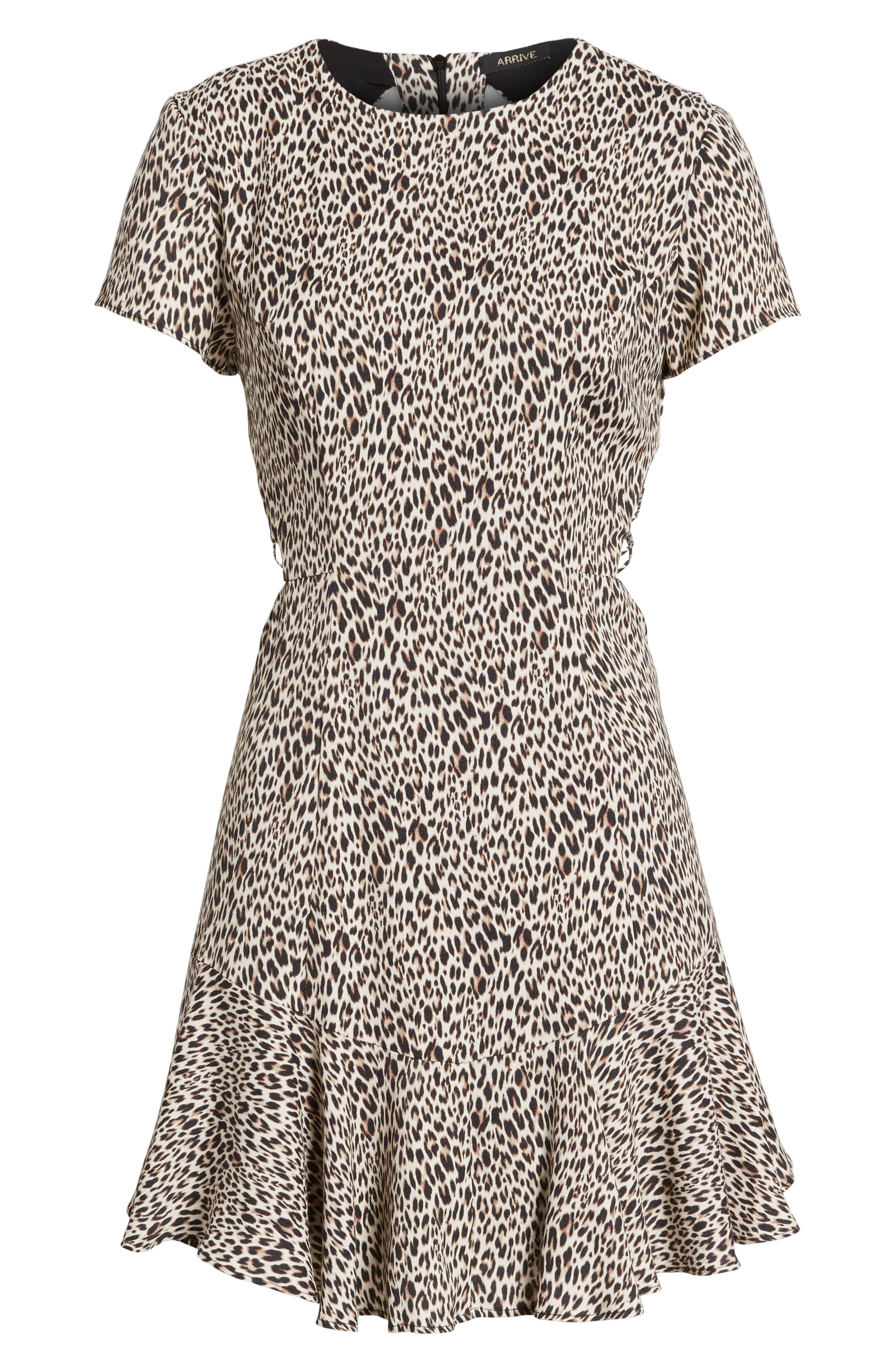 Chelsea Lattice Back Fit & Flare Dress,                             Alternate thumbnail 23, color,