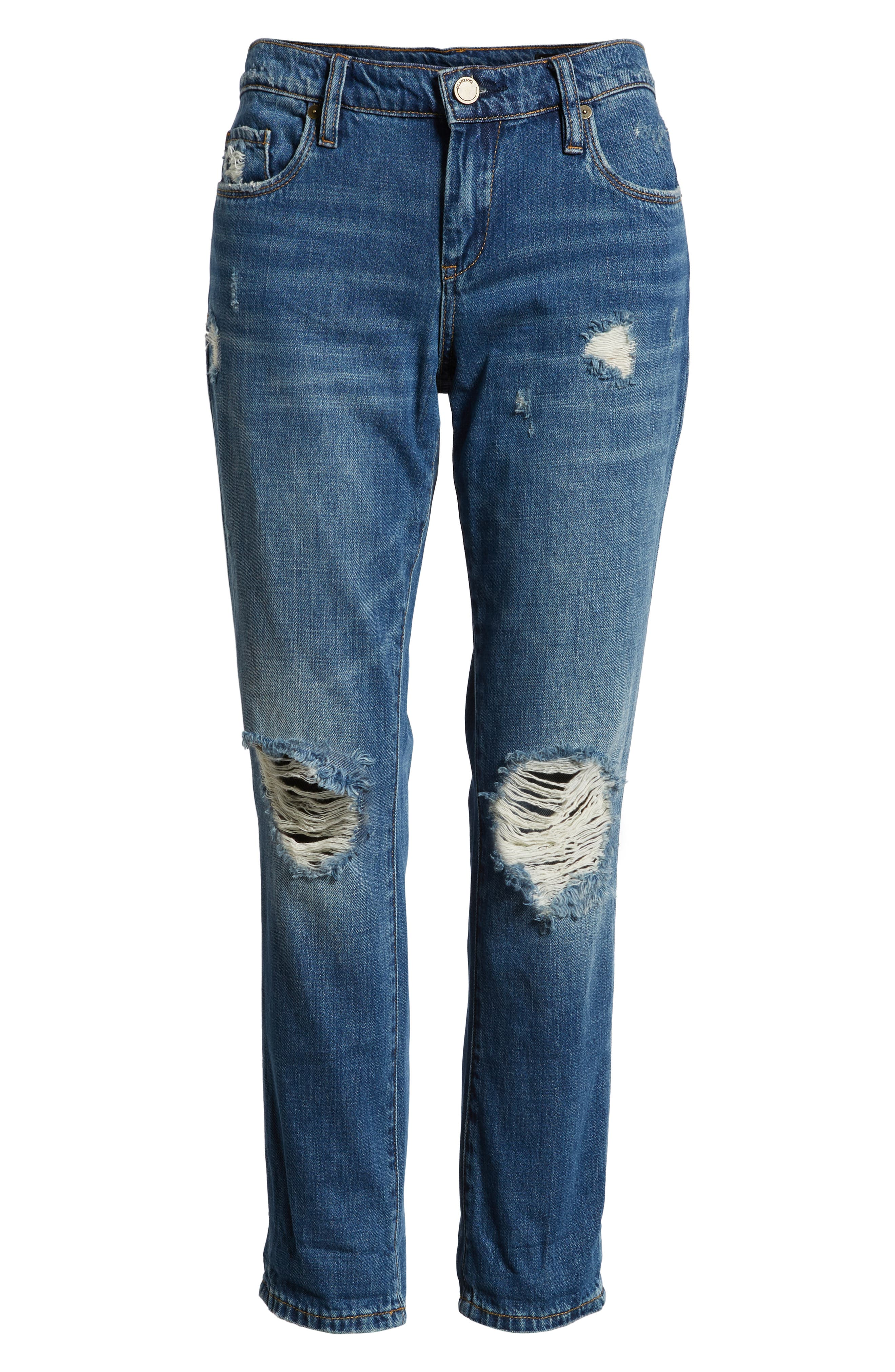 Ludlow Ripped Crop Girlfriend Jeans,                             Alternate thumbnail 7, color,                             420