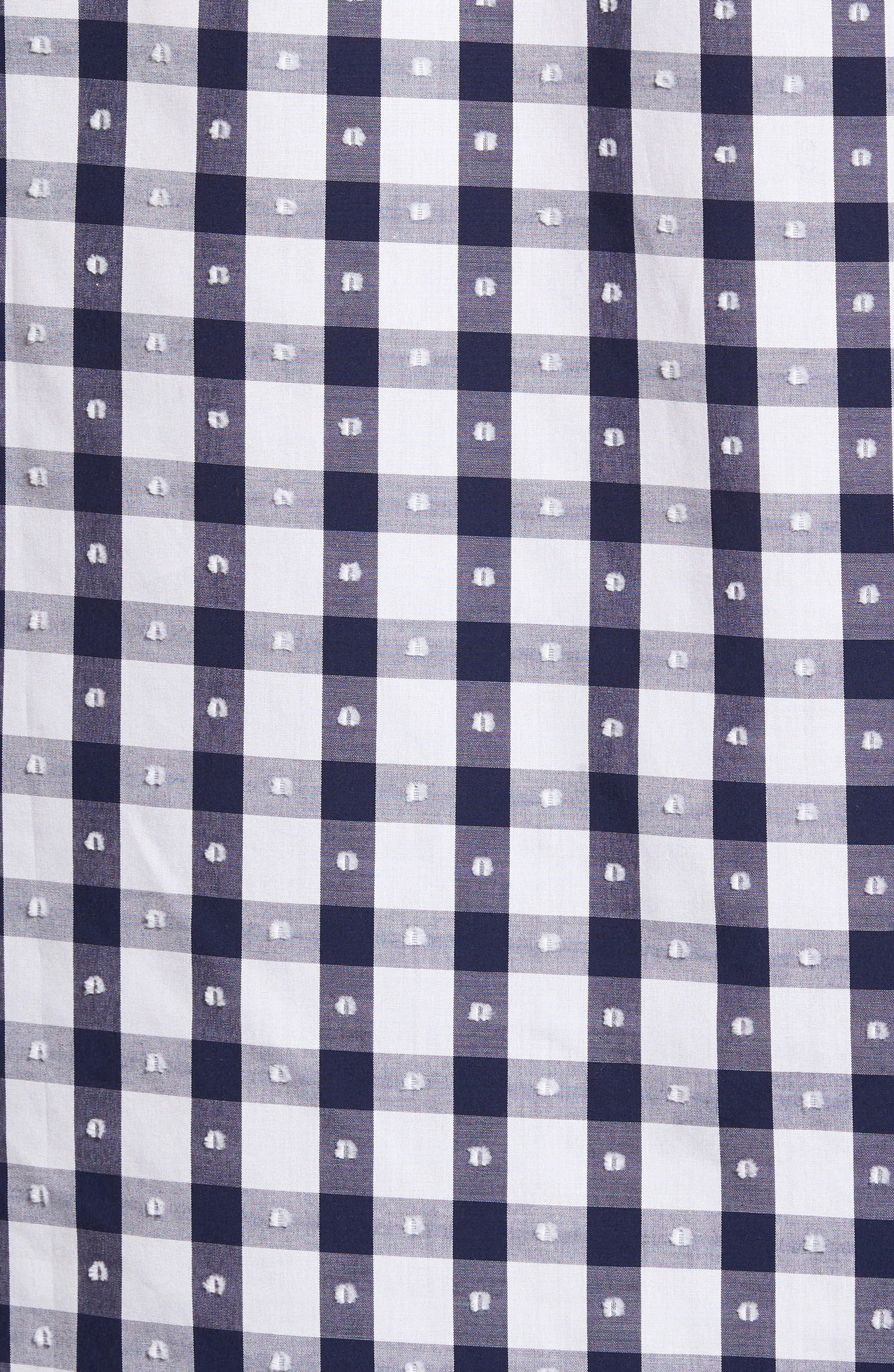 Classic Fit Dot & Gingham Check Sport Shirt,                             Alternate thumbnail 5, color,                             411