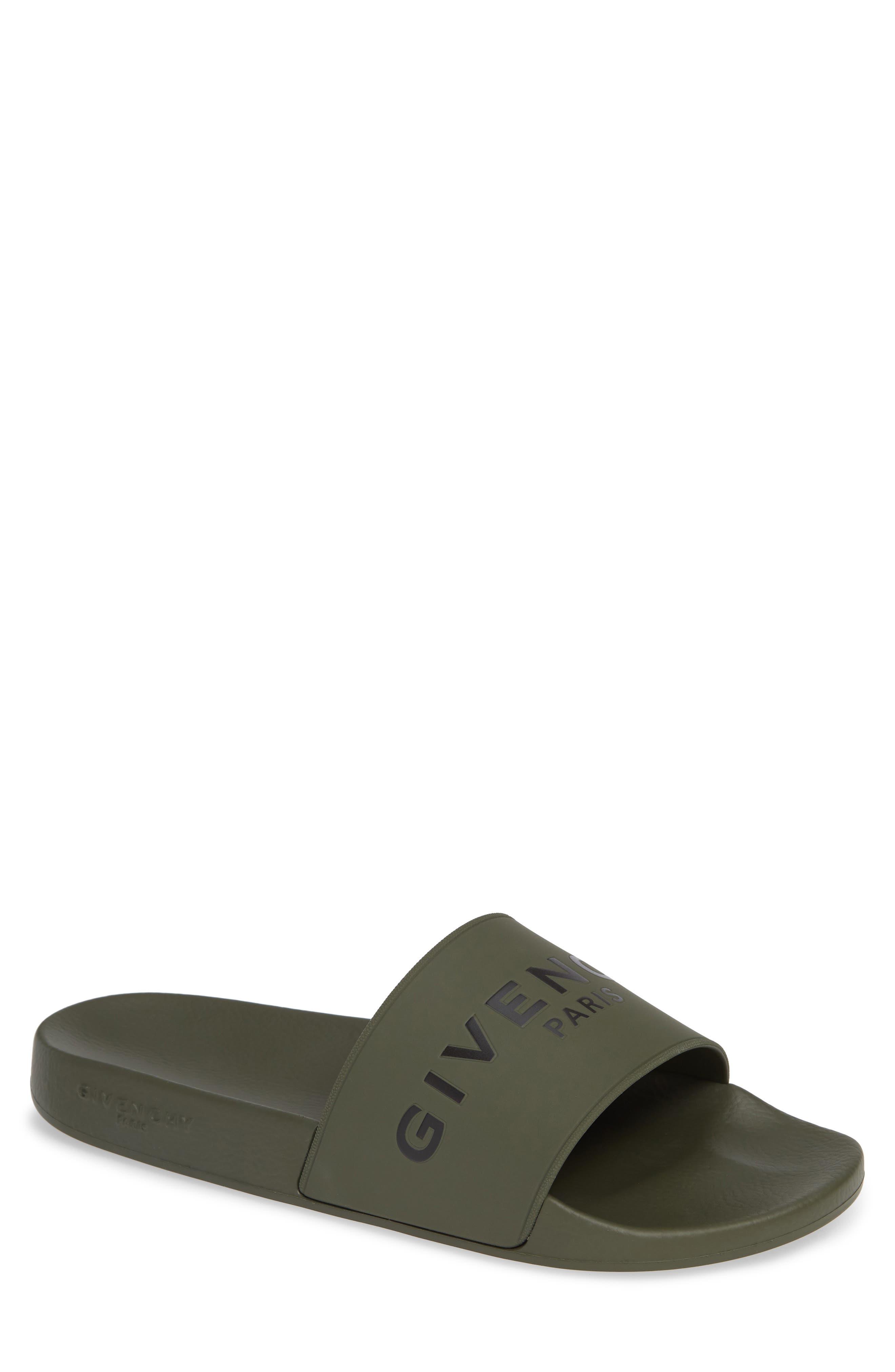 Slide Sandal,                         Main,                         color, DARK KHAKI
