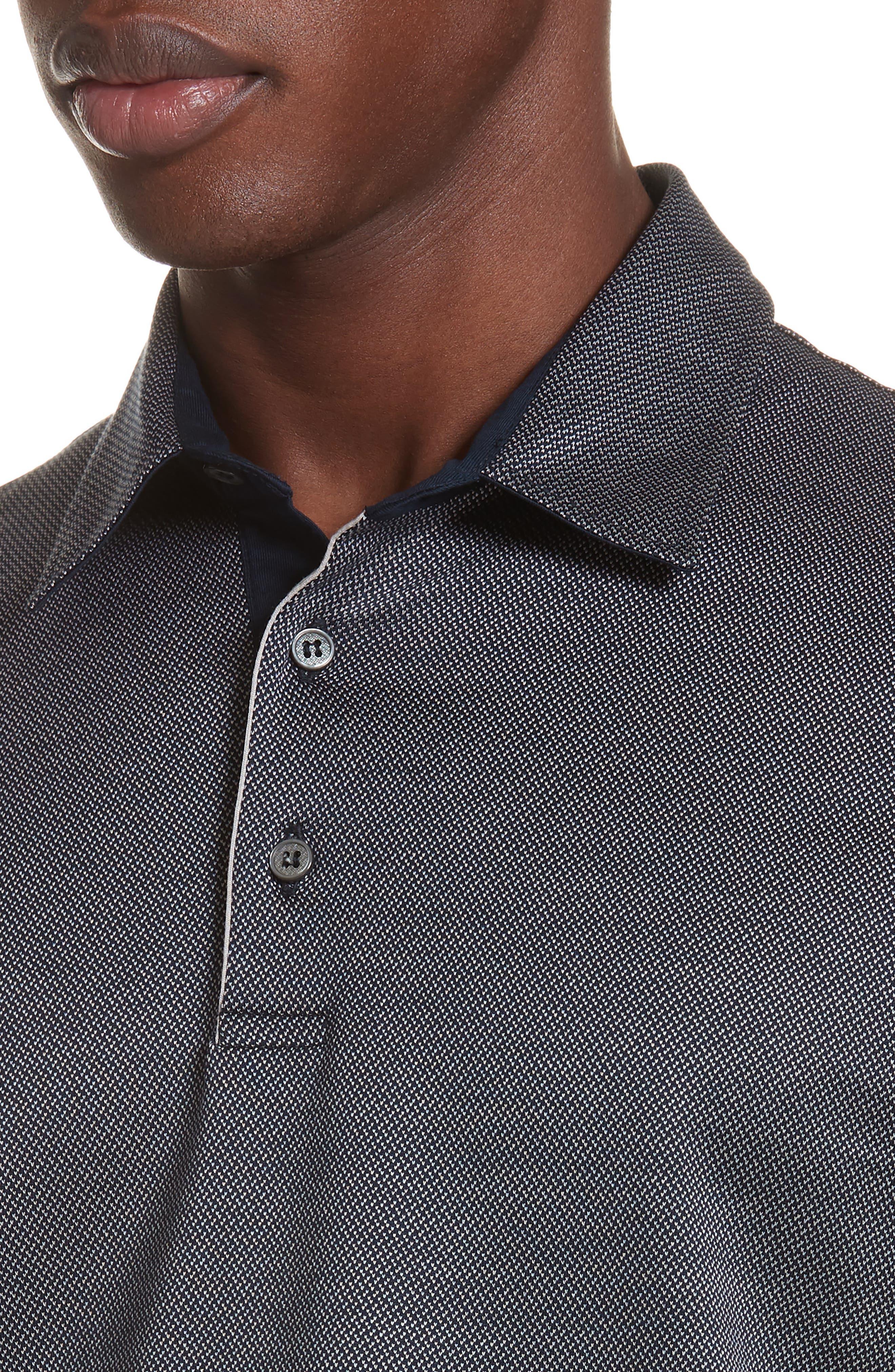 Cotton Polo Shirt,                             Alternate thumbnail 4, color,                             NAVY