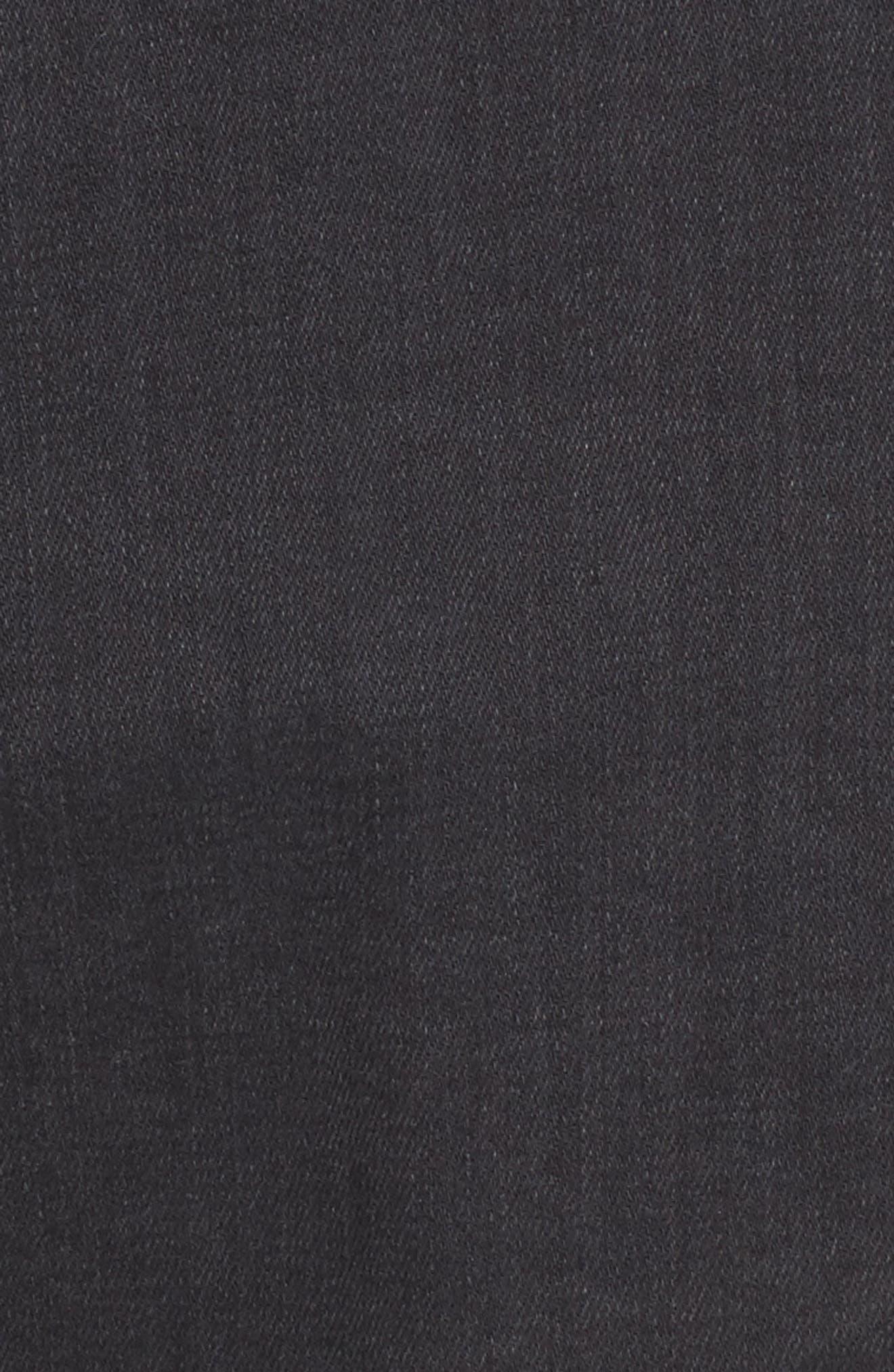 'Robyn' Crop Denim Jacket,                             Alternate thumbnail 6, color,                             014