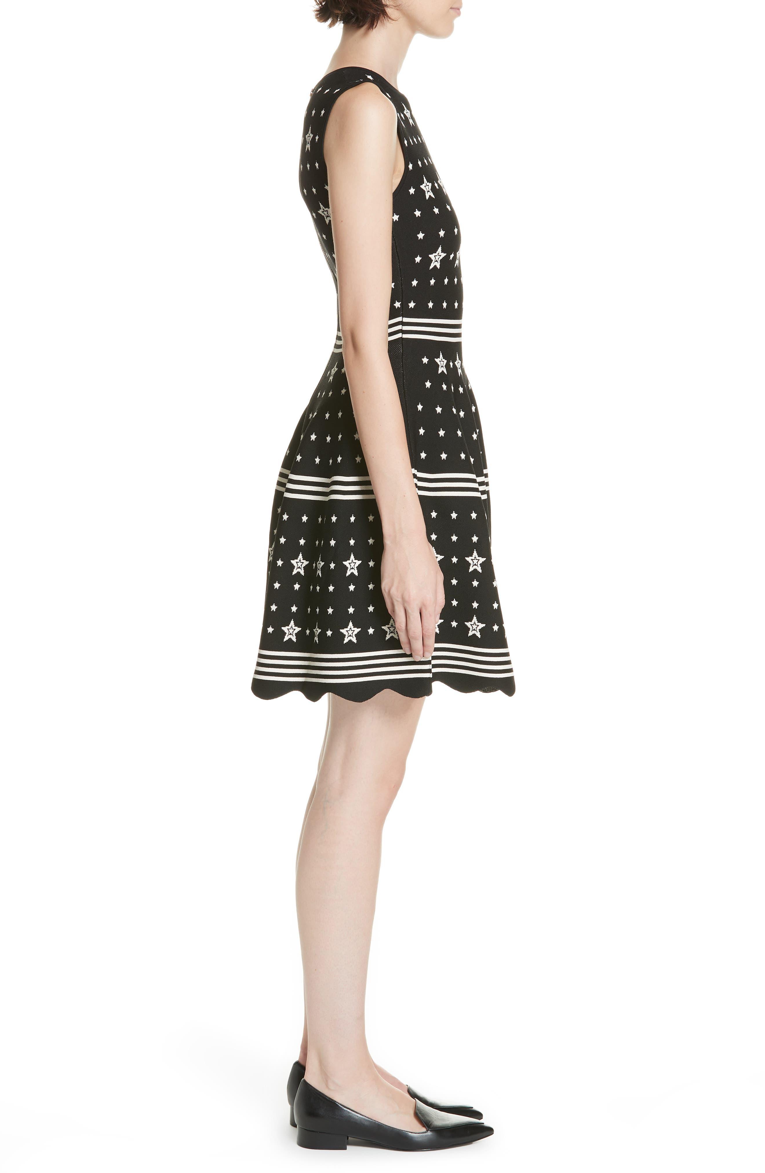 Mariae Star Dress,                             Alternate thumbnail 3, color,                             001