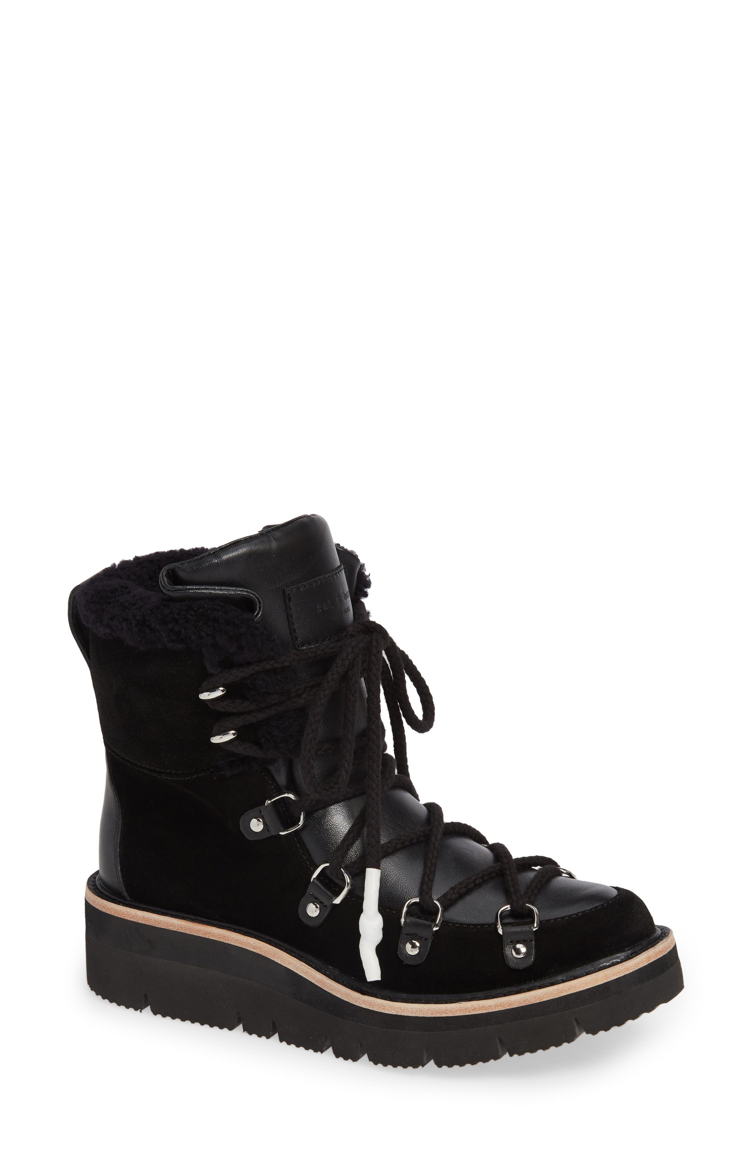 Rag & Bone Skyler Genuine Shearling Lined Boot, Black