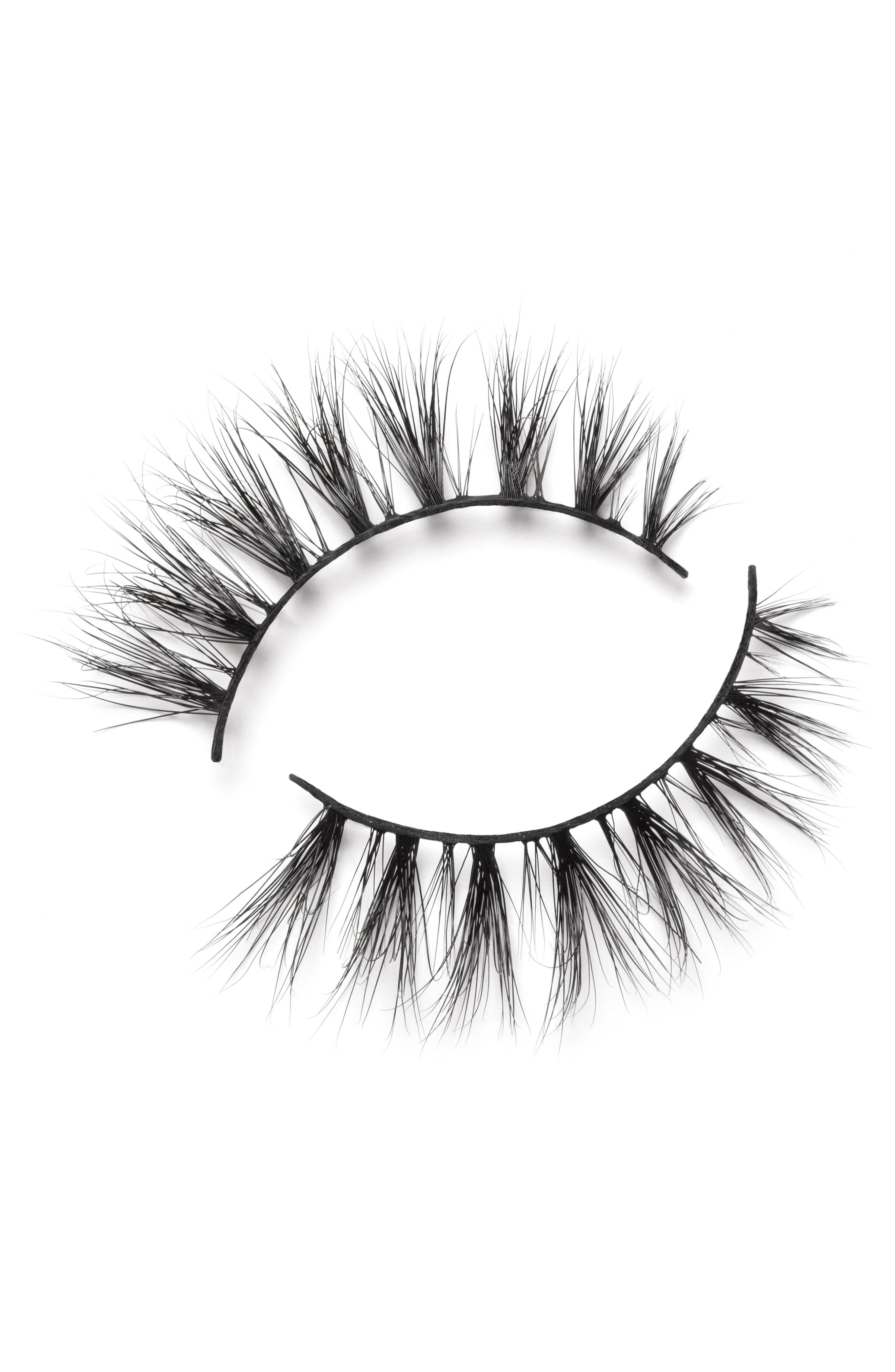 LILLY LASHES,                             Cannes 3D Mink False Lashes,                             Alternate thumbnail 4, color,                             000