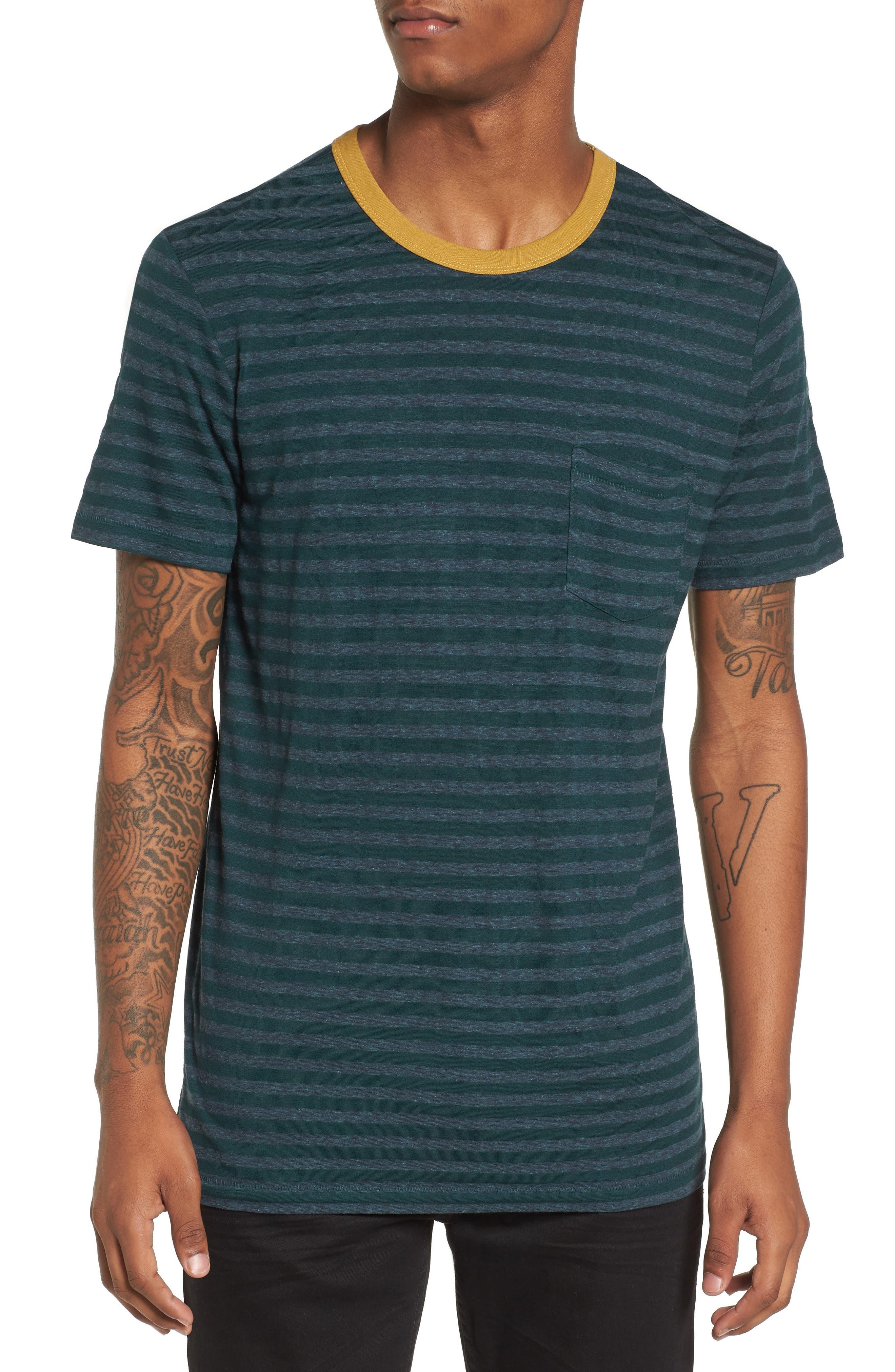 Stripe Ringer T-Shirt,                         Main,                         color,
