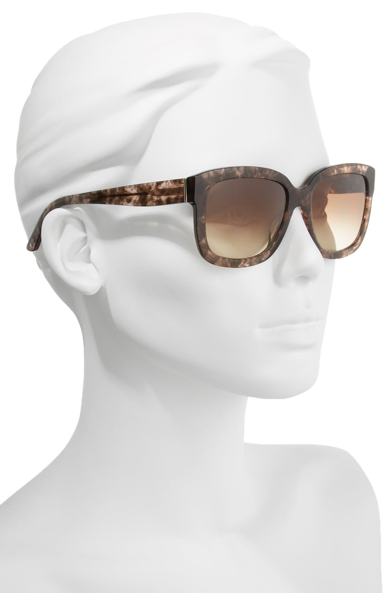 Black Label 55mm Square Sunglasses,                             Alternate thumbnail 2, color,                             210
