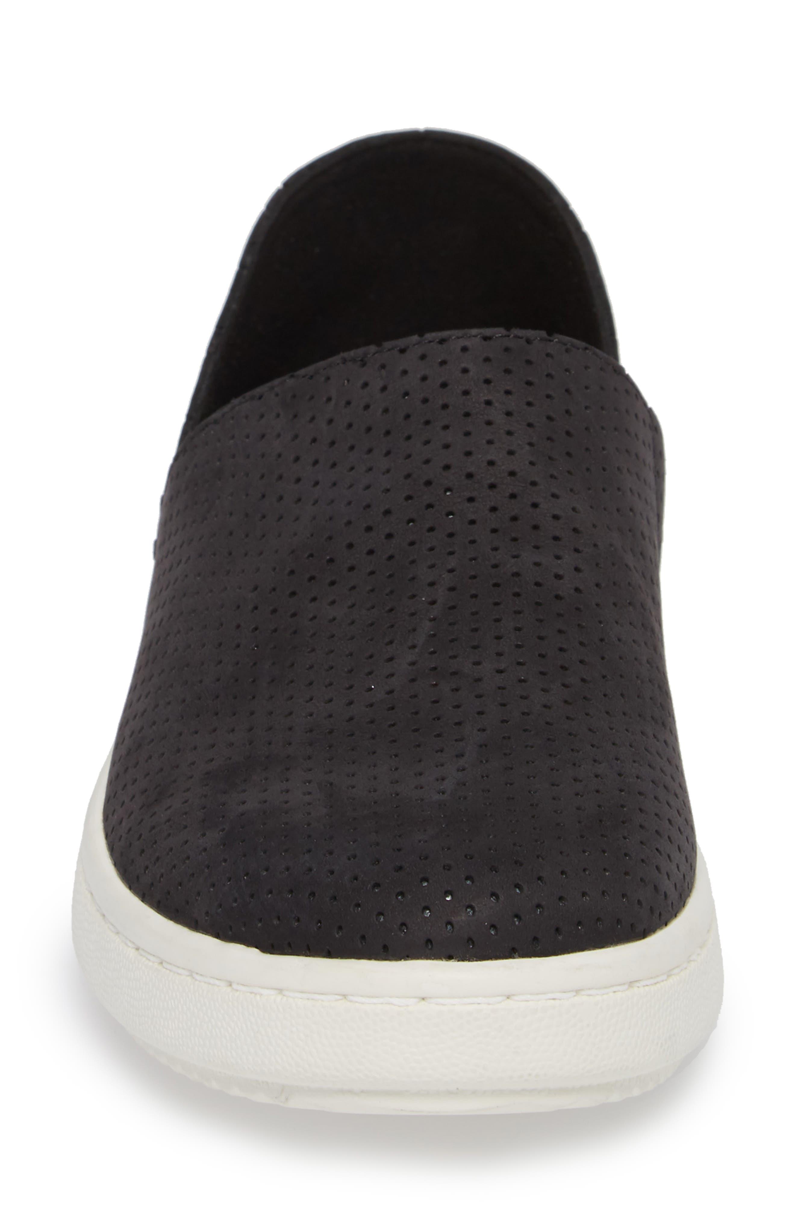 Panda Perforated Slip-On Sneaker,                             Alternate thumbnail 4, color,                             001