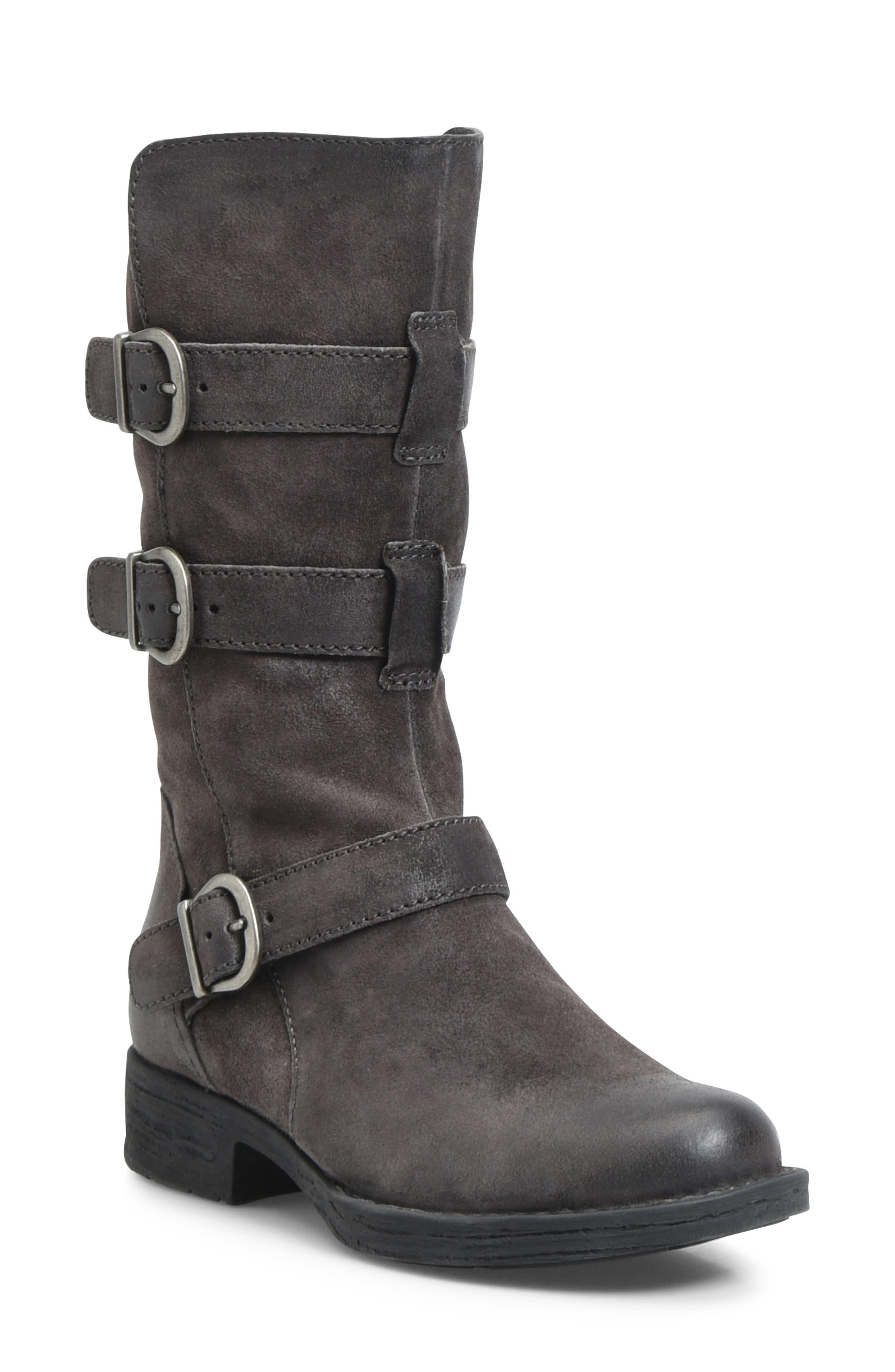 B?rn Ivy Buckle Boot- Grey