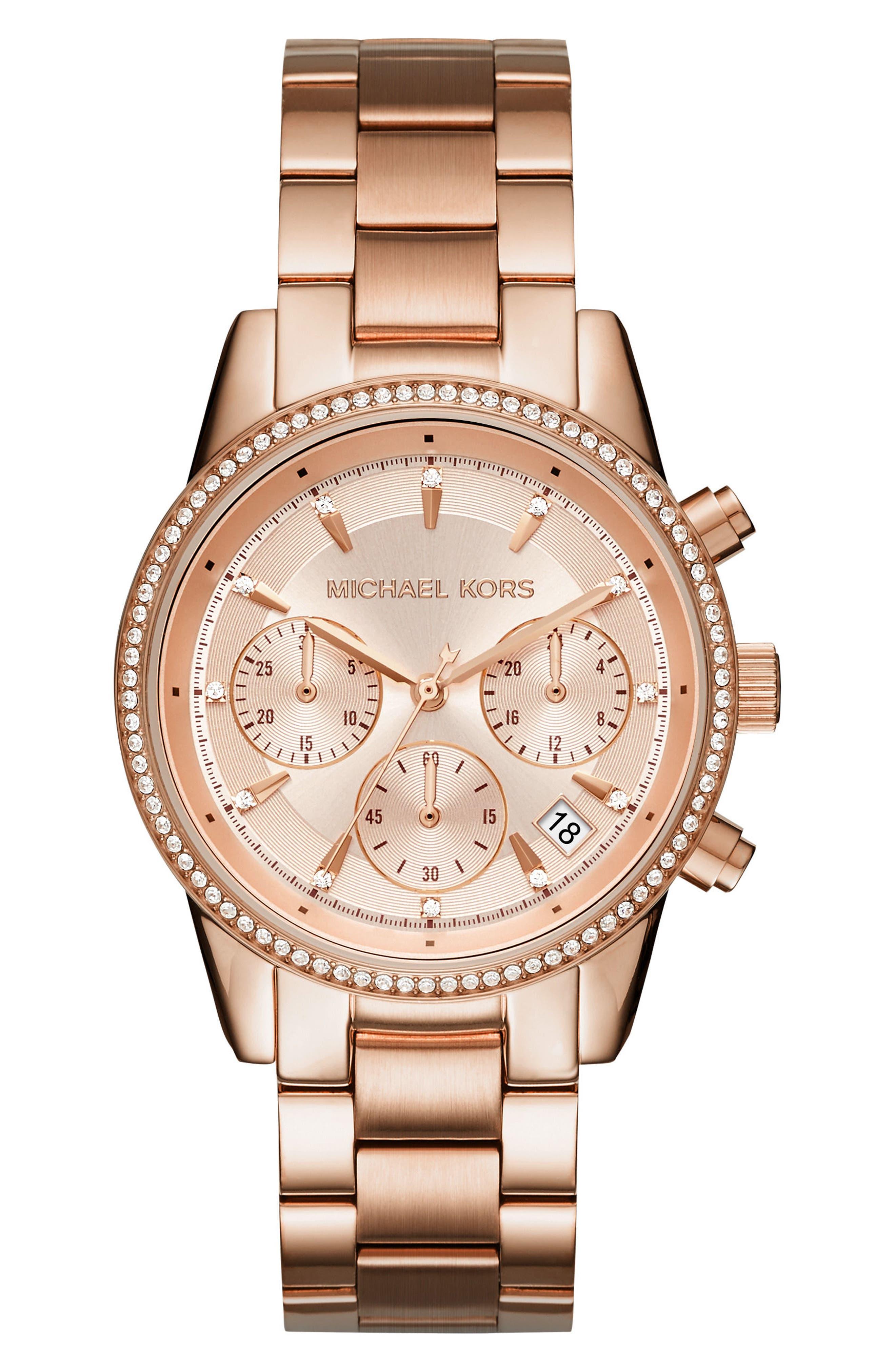 Ritz Chronograph Bracelet Watch, 37mm,                             Alternate thumbnail 10, color,
