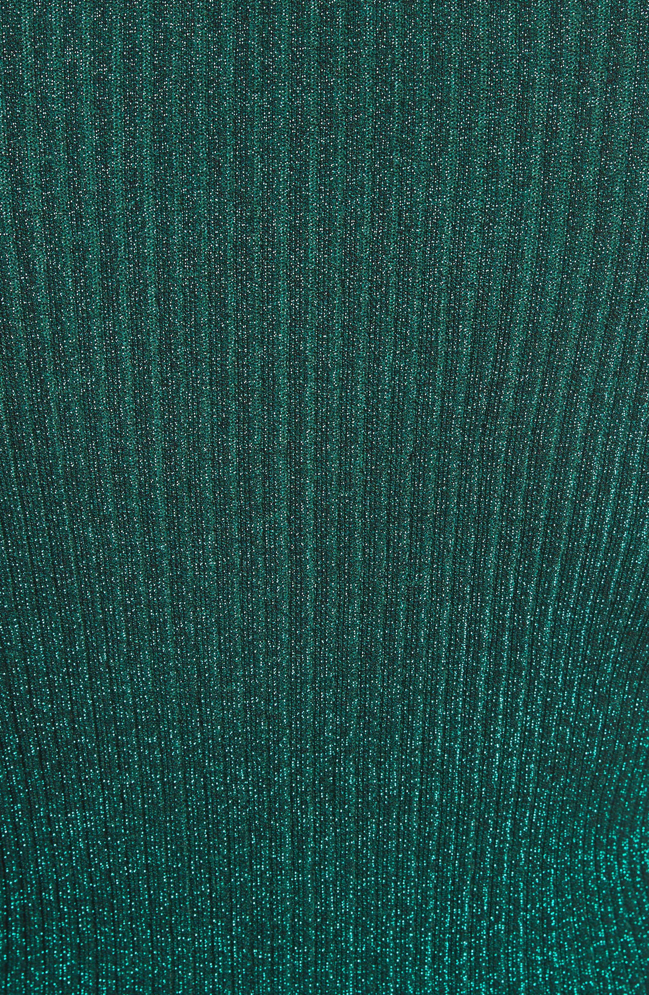 Italian Stardust Ribbed Turtleneck,                             Alternate thumbnail 5, color,                             301