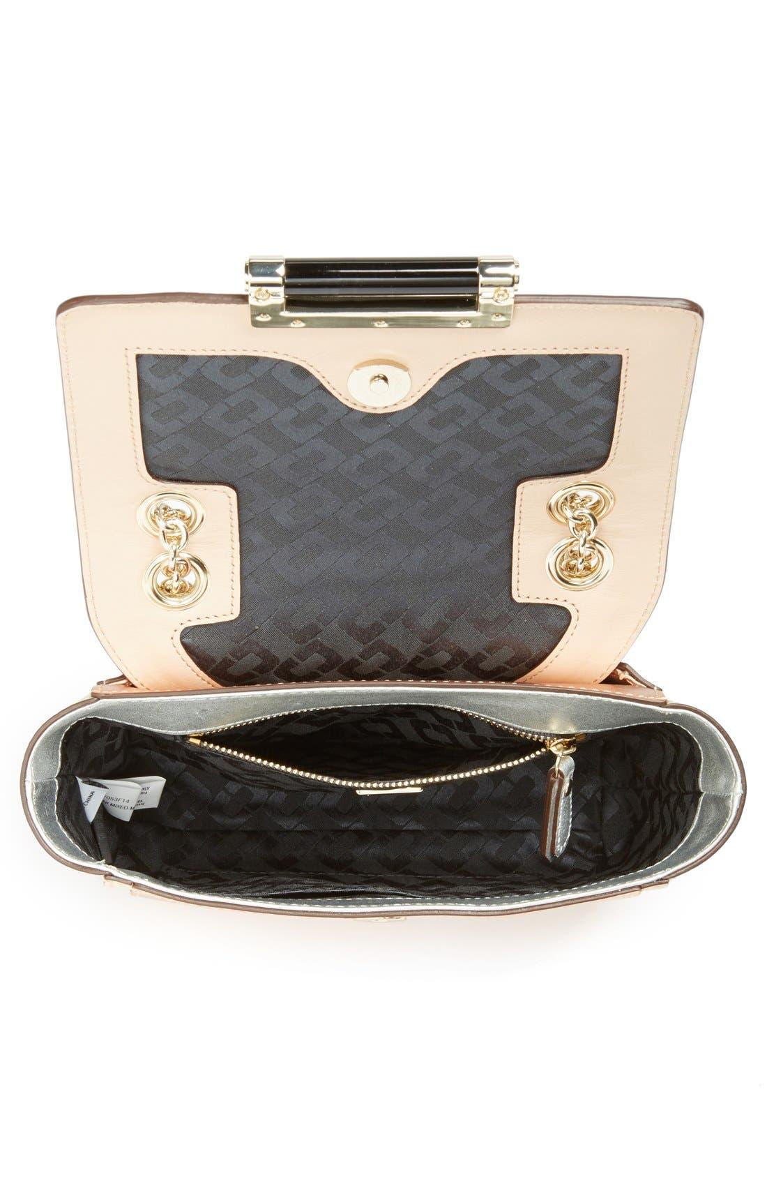 DIANE VON FURSTENBERG,                             '440 - Mini' Metallic Leather Crossbody Bag,                             Alternate thumbnail 3, color,                             710
