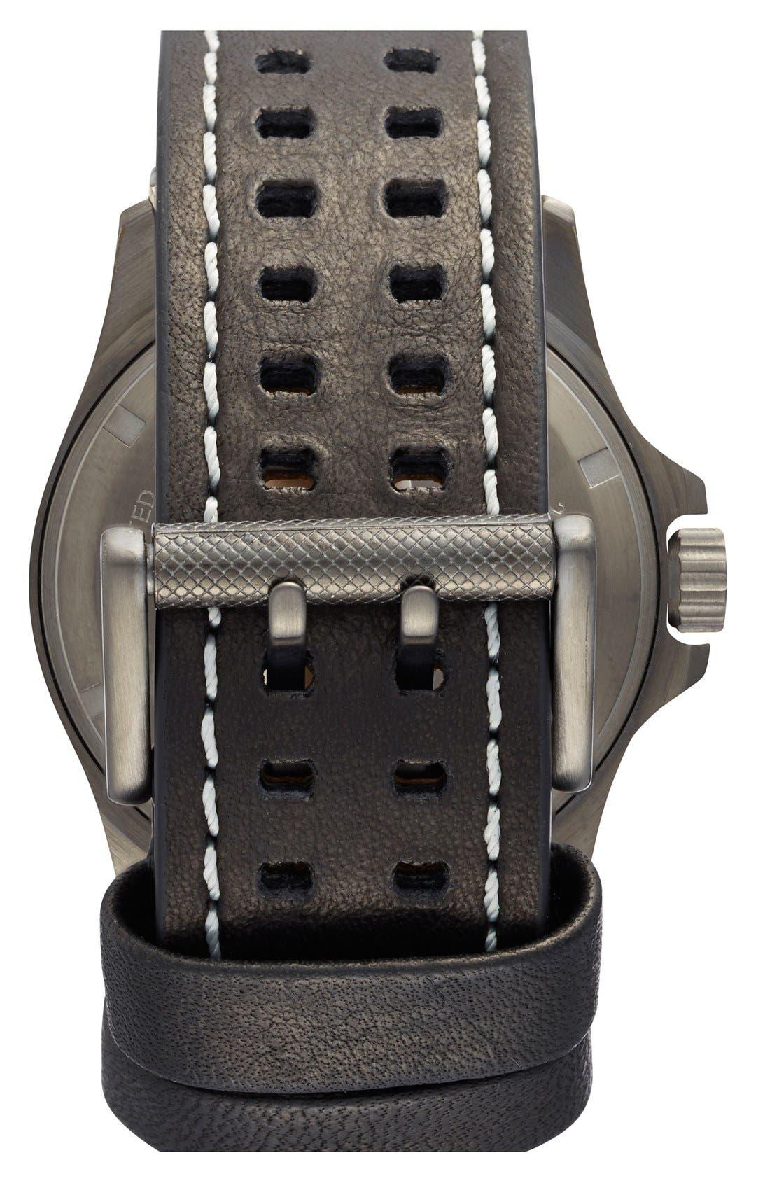 'Land - Atacama Field' Leather Strap Watch, 45mm,                             Alternate thumbnail 17, color,