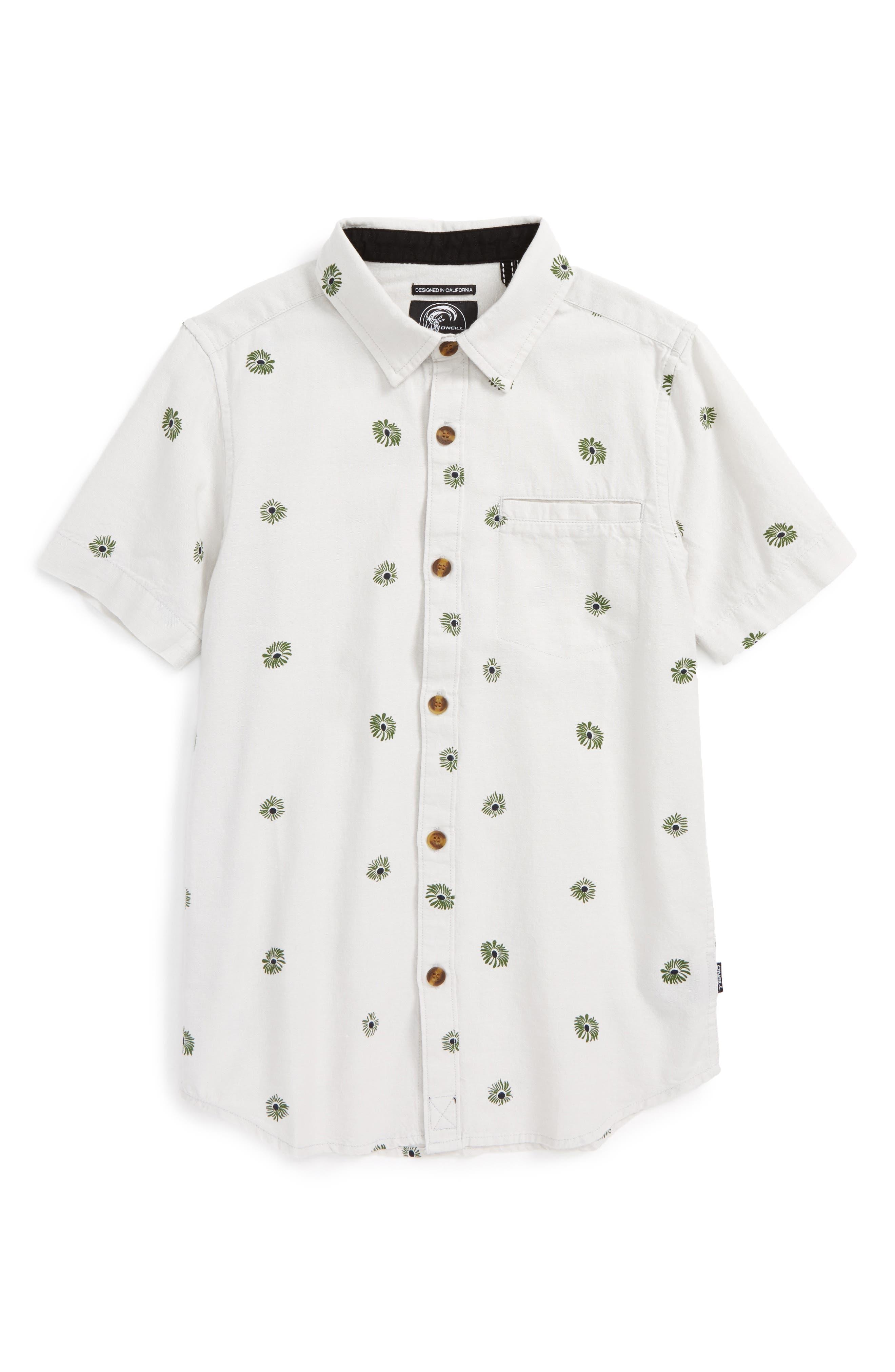 Brees Floral Print Woven Shirt,                         Main,                         color, 036