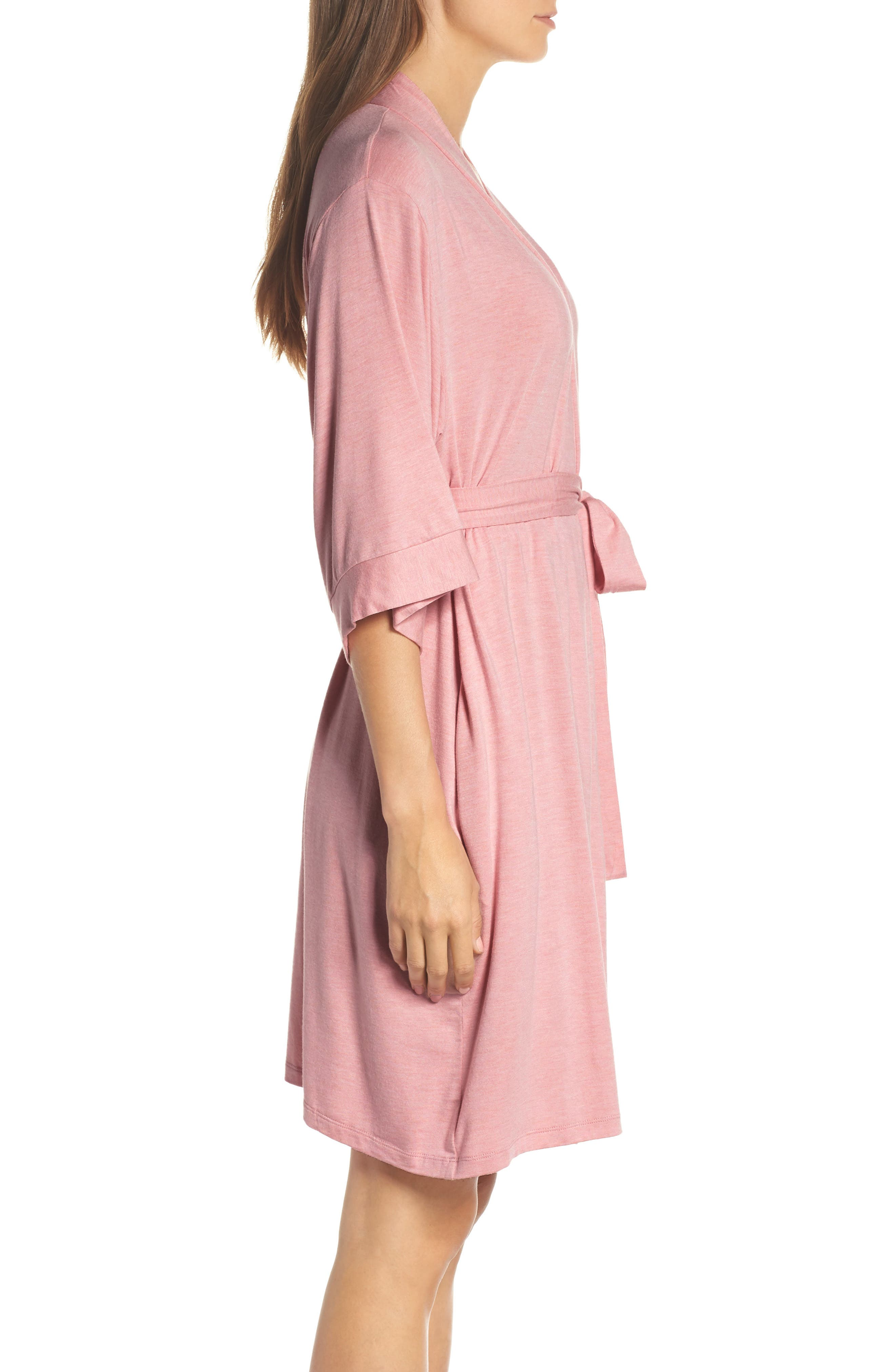 Short Robe,                             Alternate thumbnail 3, color,                             VINTAGE PINK