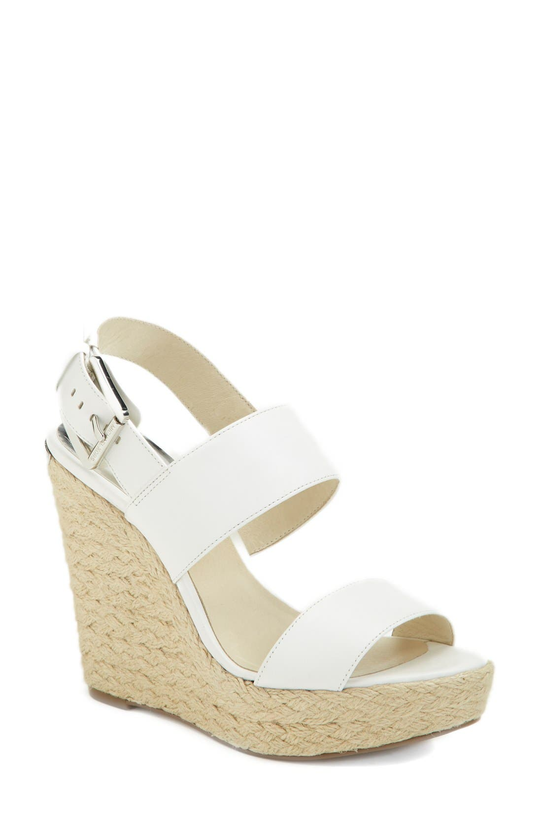 'Posey' Espadrille Wedge Sandal,                         Main,                         color, 100