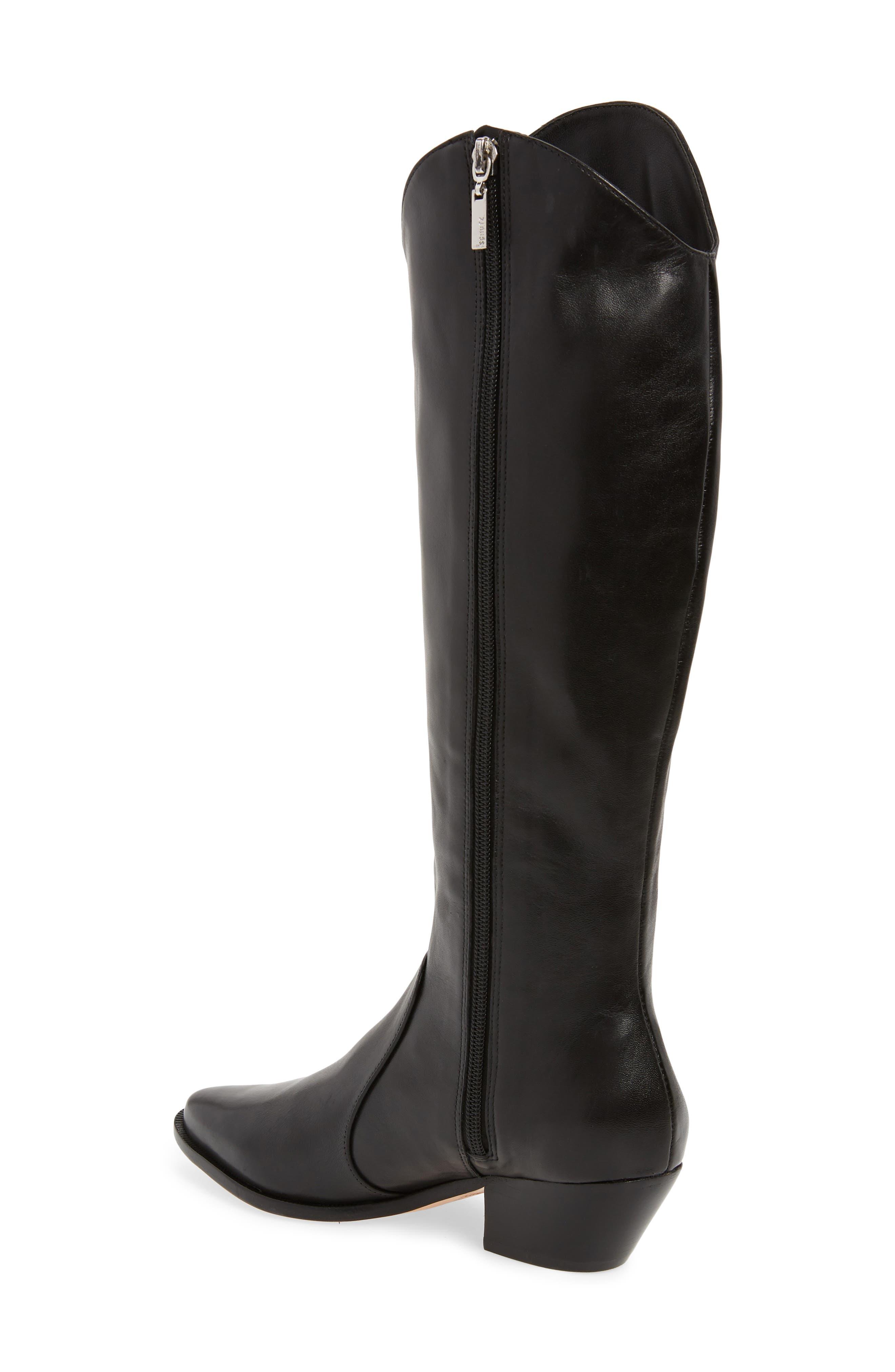 Fantinne Knee High Boot,                             Alternate thumbnail 2, color,                             BLACK LEATHER