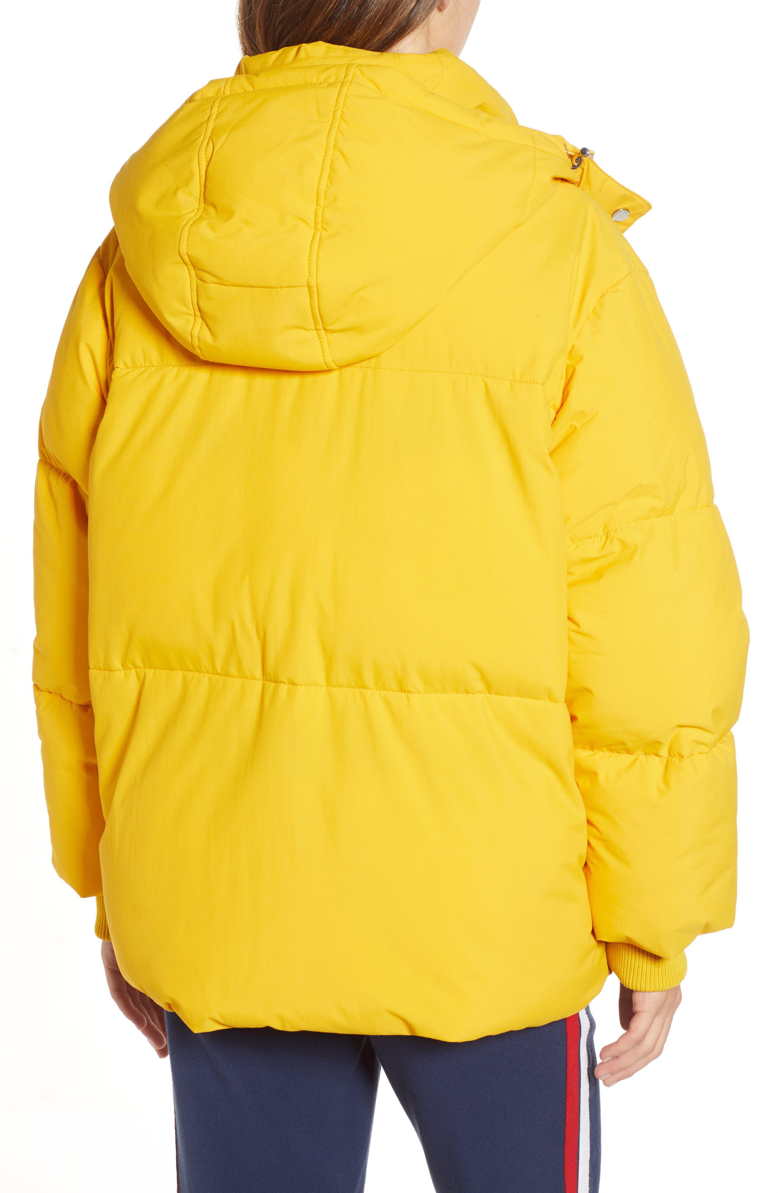 TJW Oversized Puffer Jacket,                             Alternate thumbnail 2, color,                             MANGO MOJITO