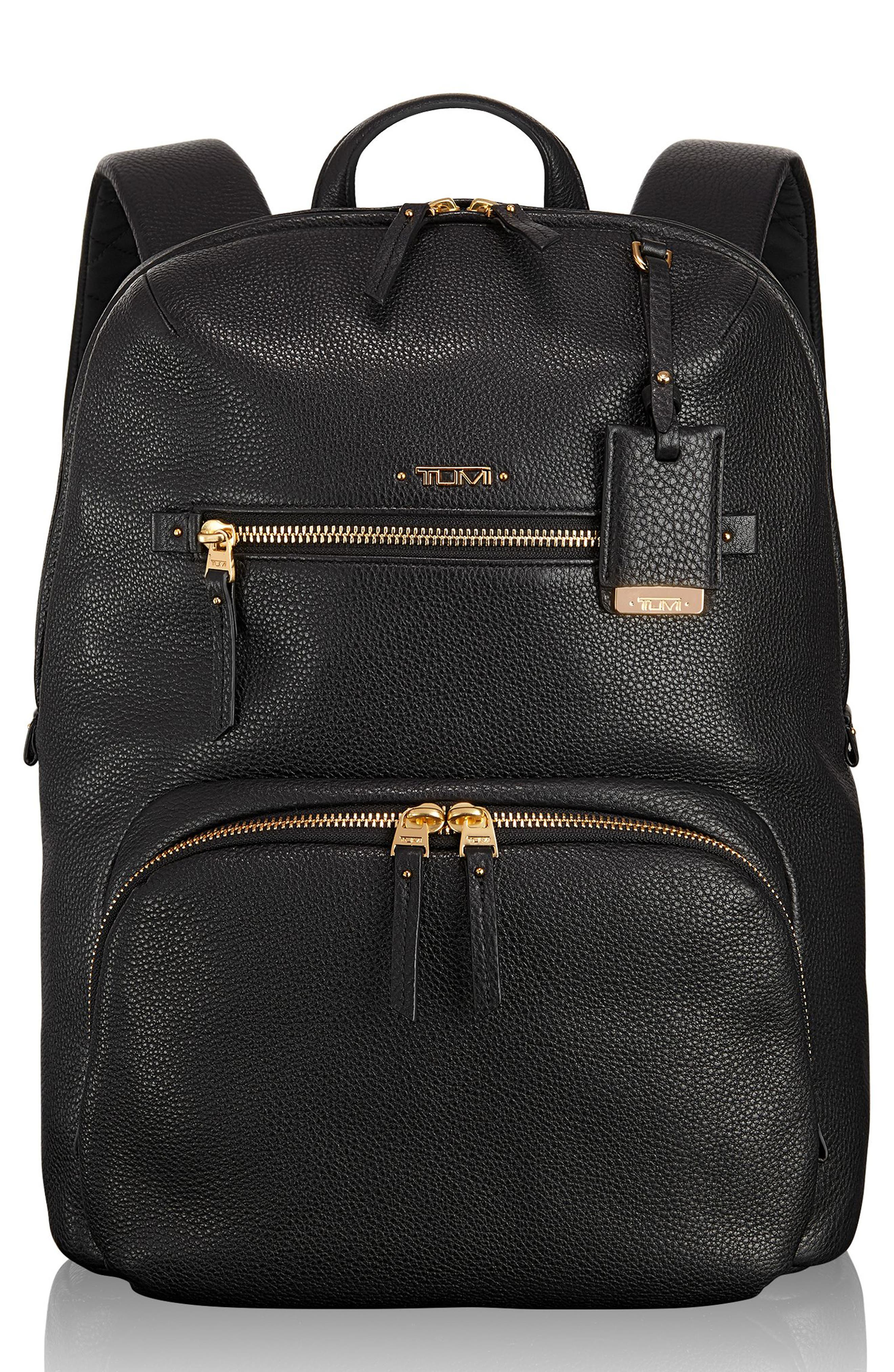 Voyageur Halle Leather Backpack,                             Main thumbnail 2, color,