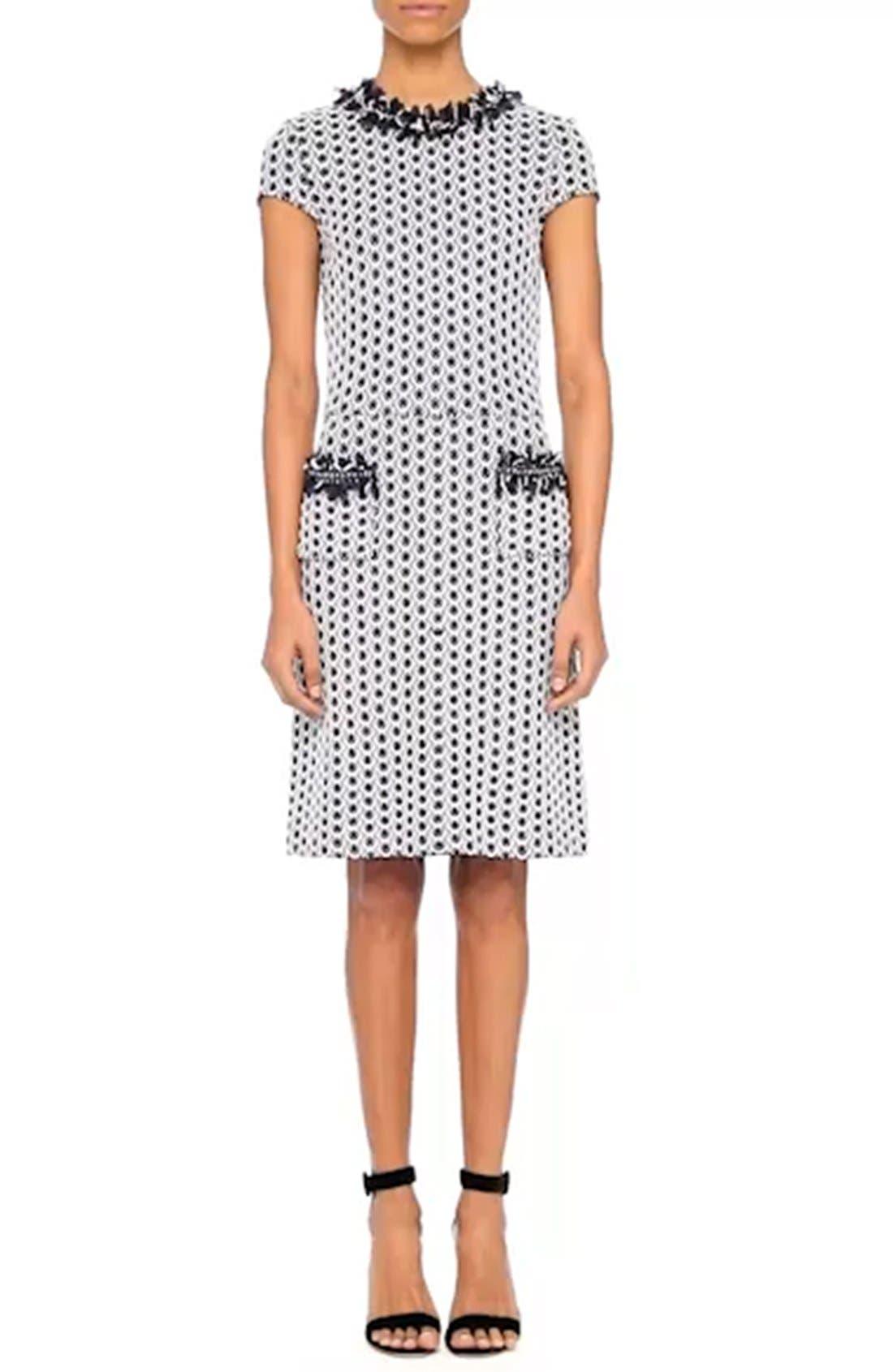 Aadi Tweed Knit Dress,                             Alternate thumbnail 7, color,                             400