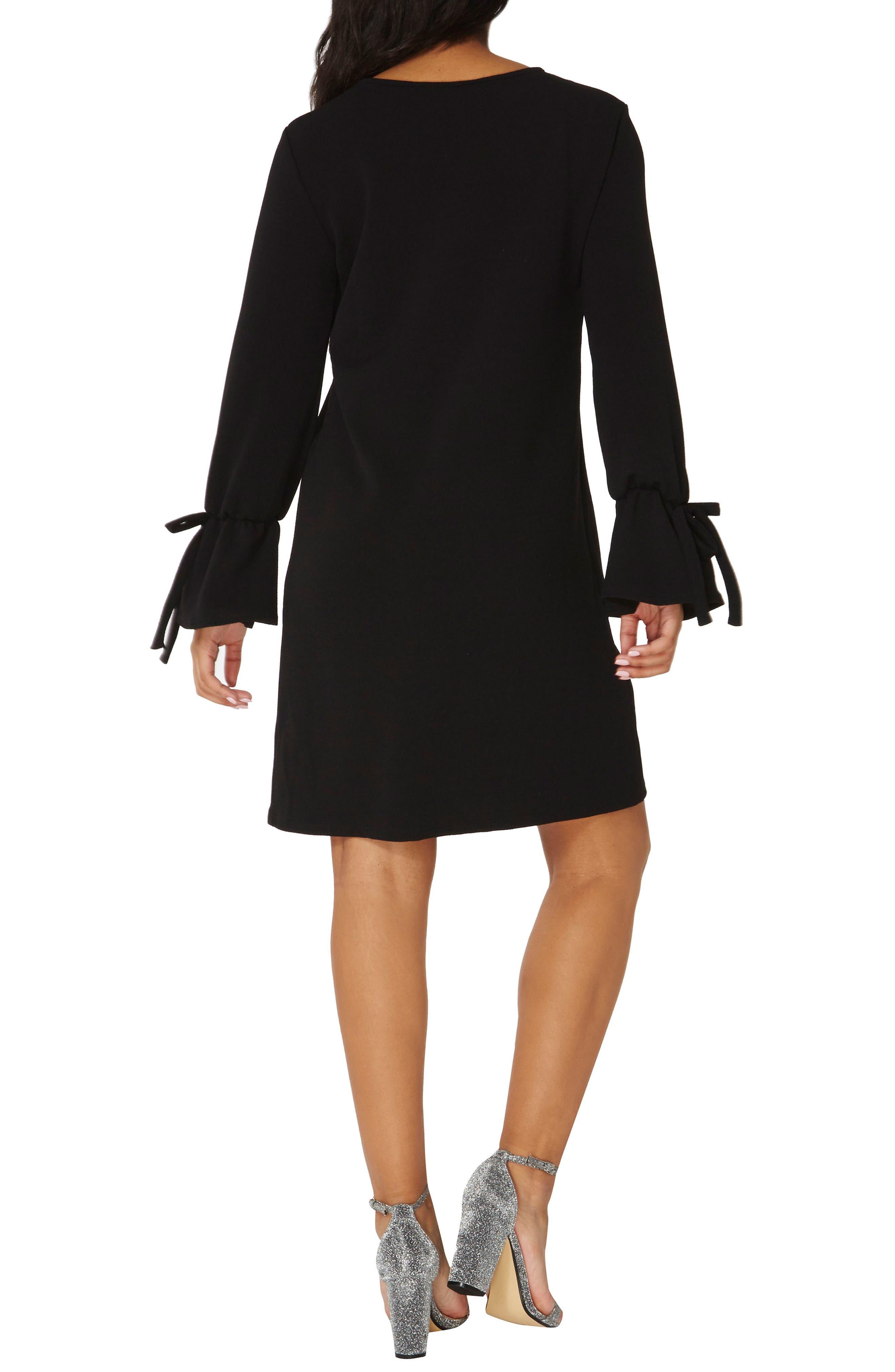 Tie Sleeve Shift Dress,                             Alternate thumbnail 2, color,