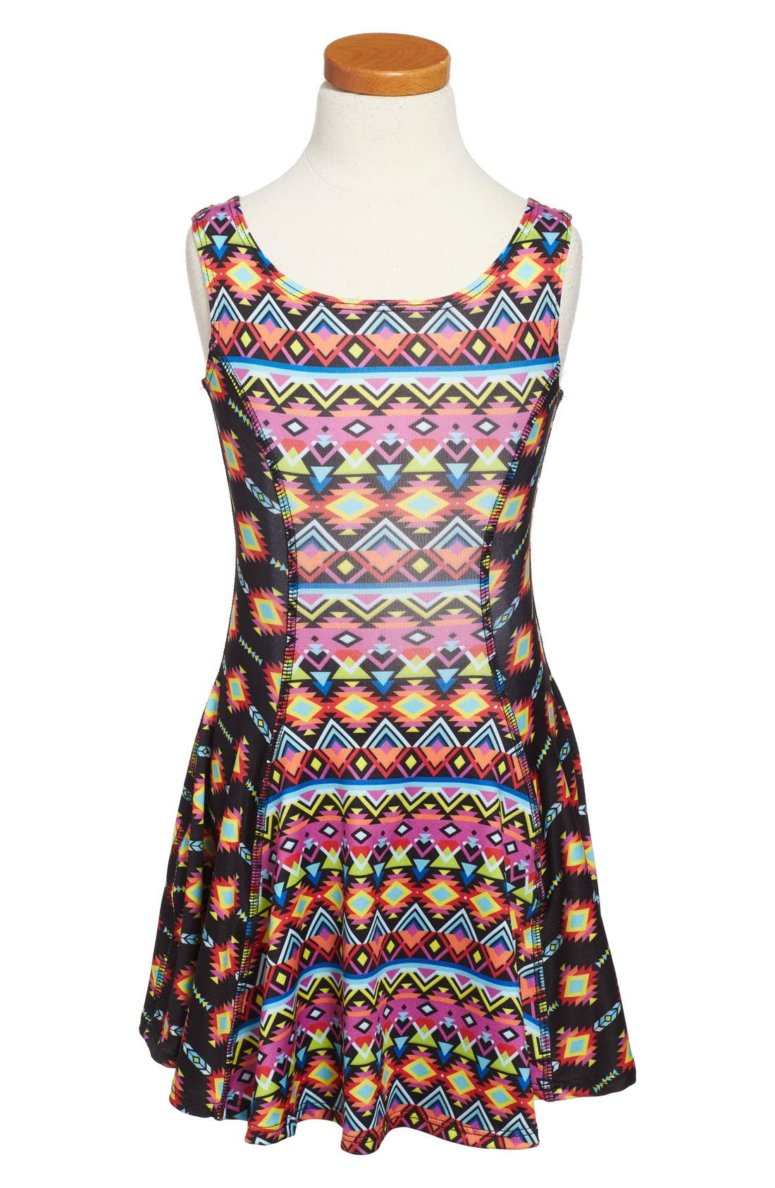 Flow Mixed Print Dress,                             Alternate thumbnail 33, color,
