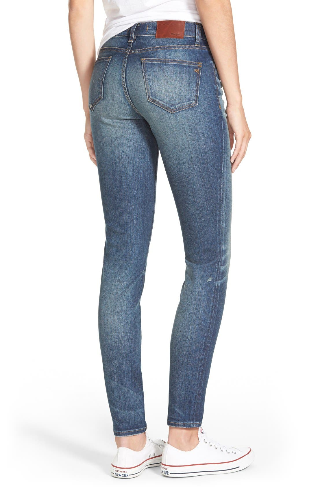 'Skinny Skinny - Taller' Jeans,                             Alternate thumbnail 3, color,                             402
