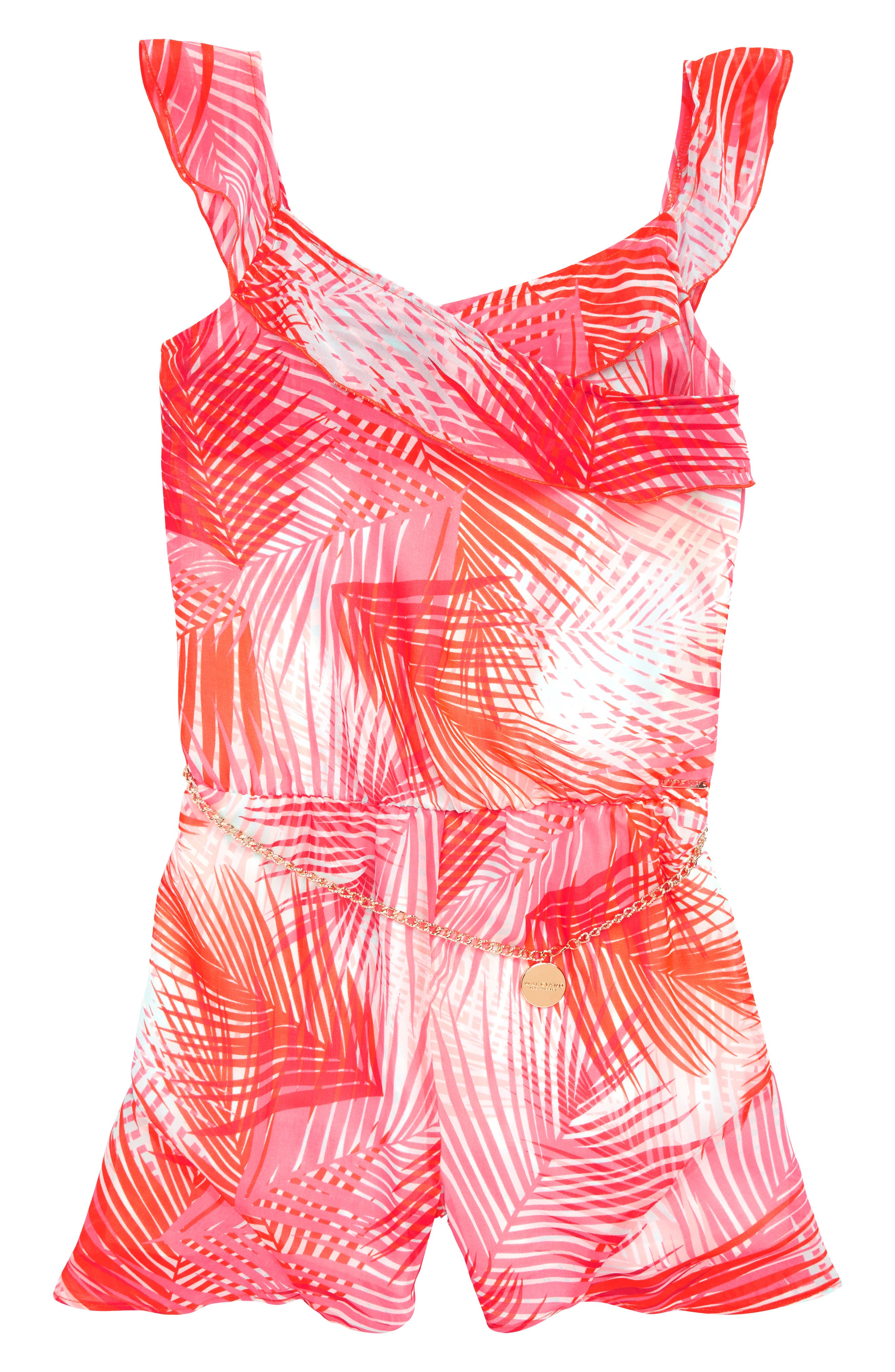Palm Print Romper,                         Main,                         color, 951