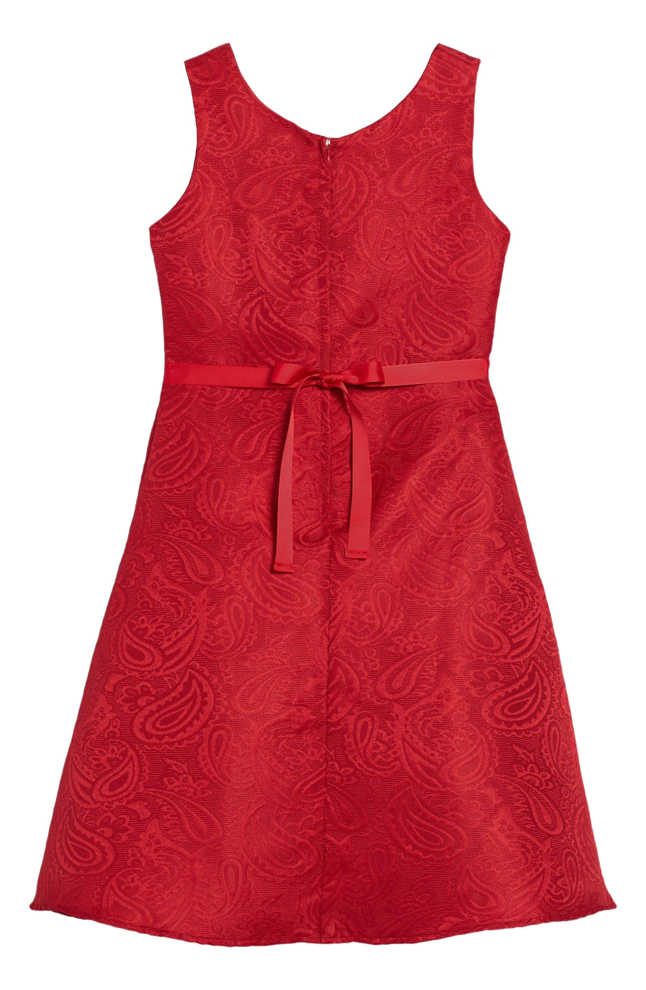 Hannah Jacquard Dress,                             Alternate thumbnail 2, color,                             600